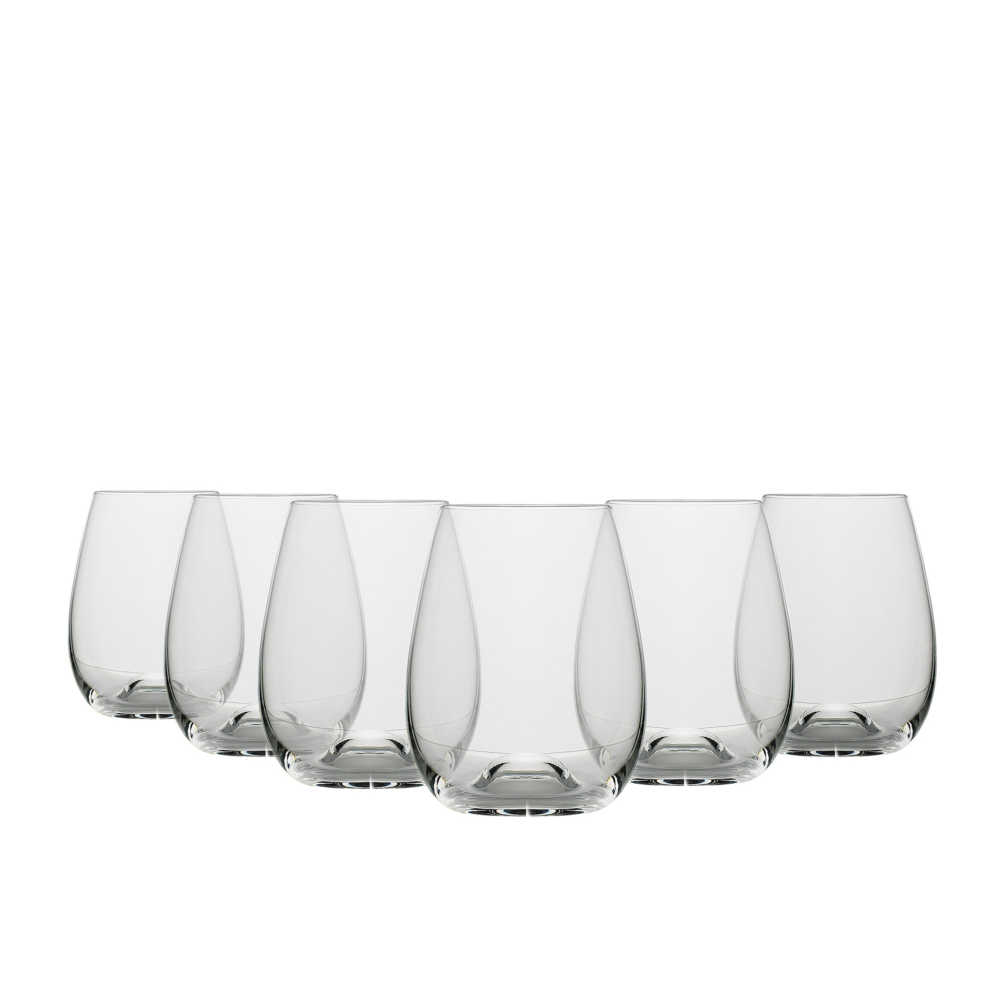 Ecology Classic 6pc Stemless Wine Glass Set 460ml