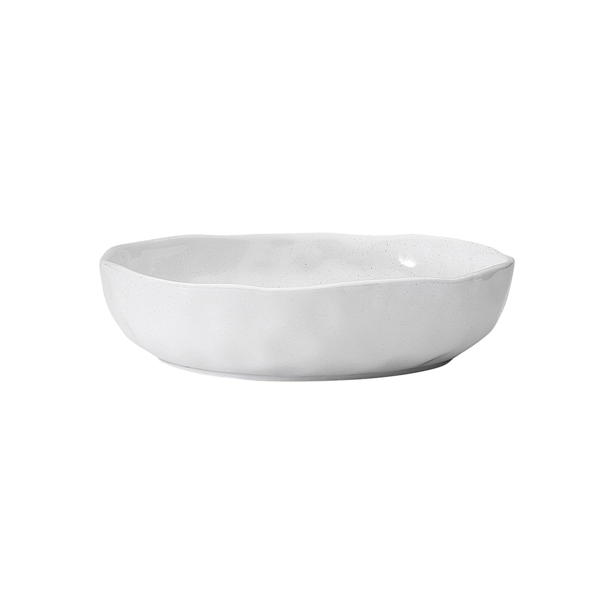 Ecology Speckle Dinner Bowl 22cm Milk