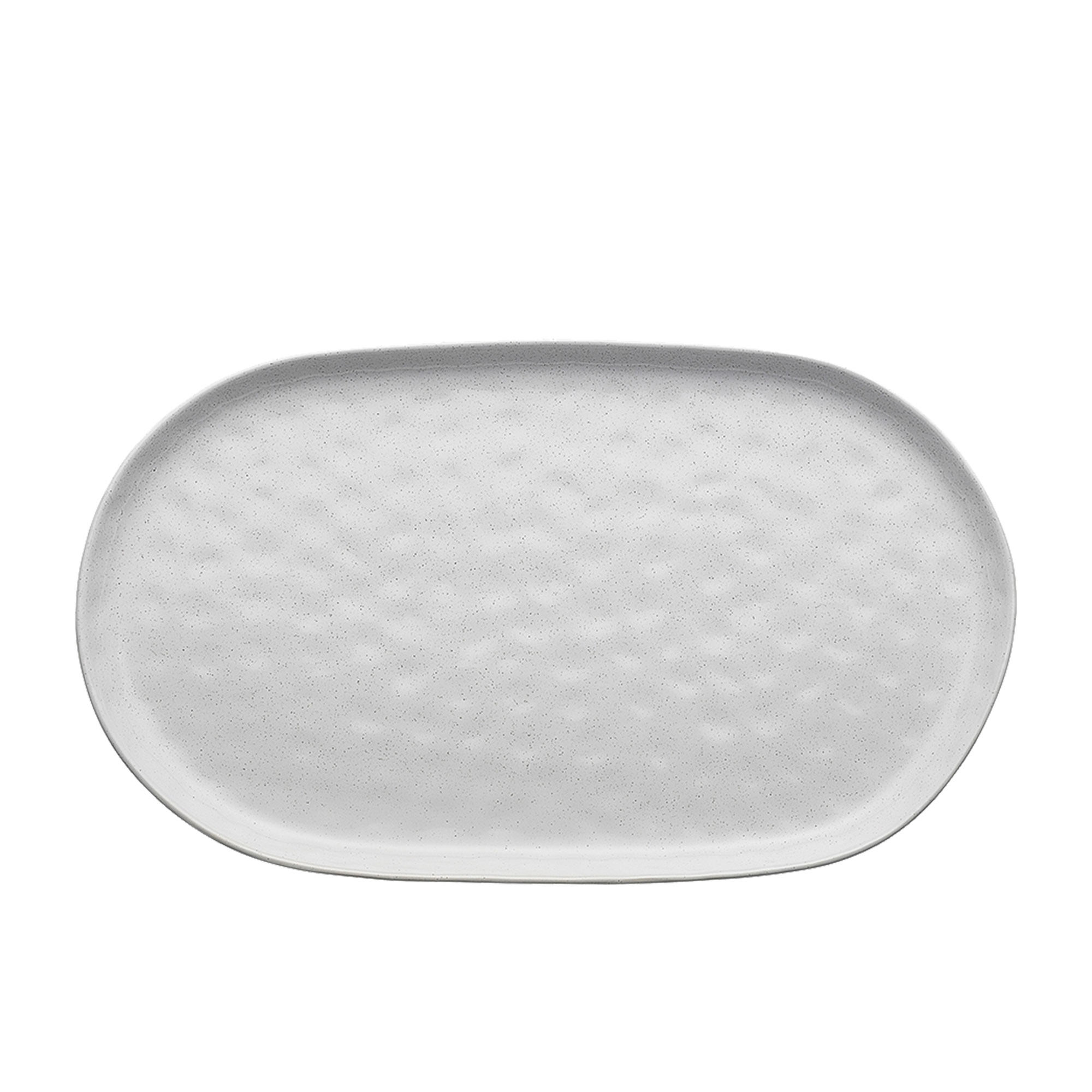 Ecology Speckle Oval Serving Platter 40x24x2cm Milk