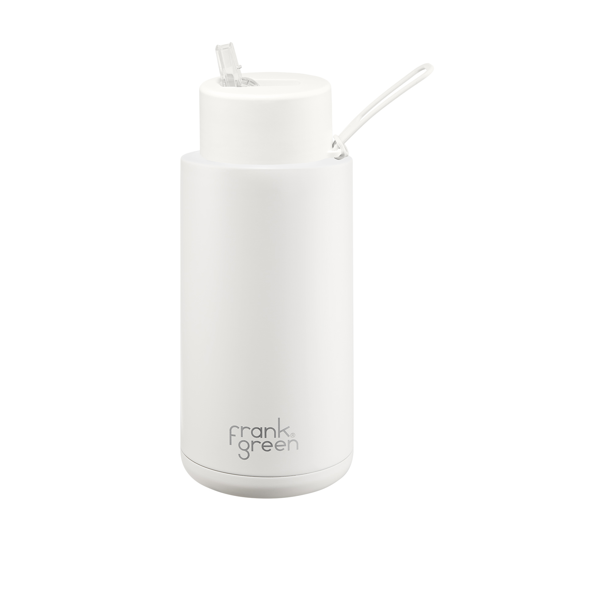 Frank Green Ultimate Ceramic Reusable Bottle with Straw 1L (34oz) Cloud