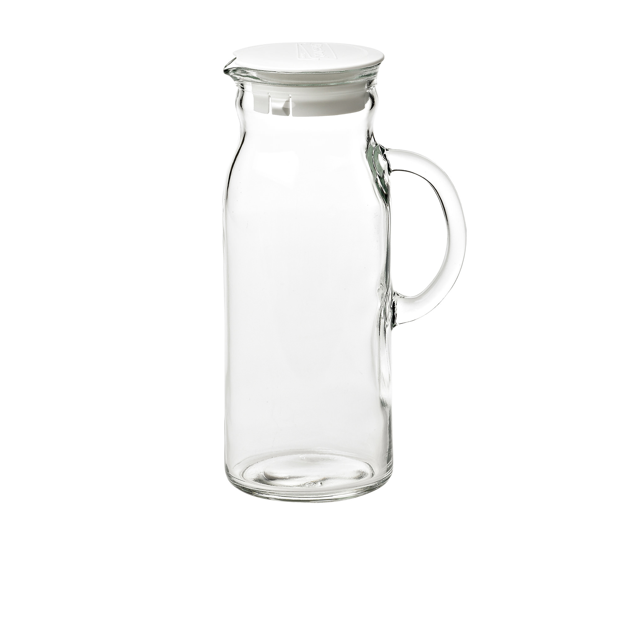 Glasslock Clean Water Jar with White Lid 1L
