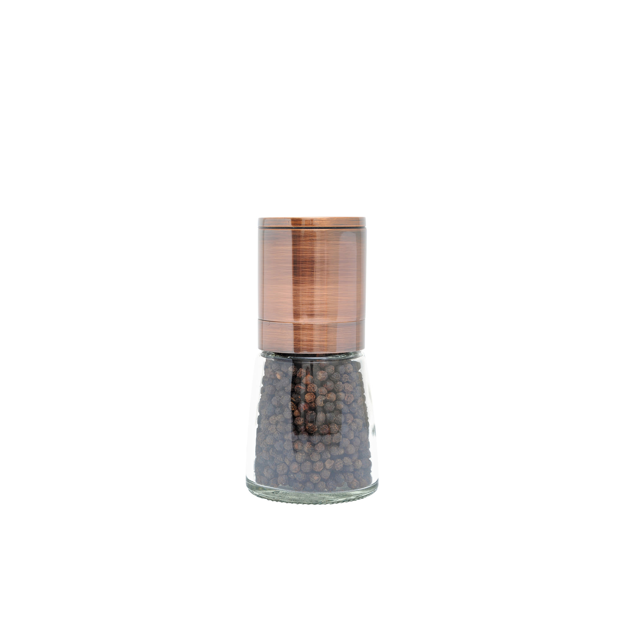 Grind & Shake Copper Upside Down Mill w/ Black Peppercorn 65g