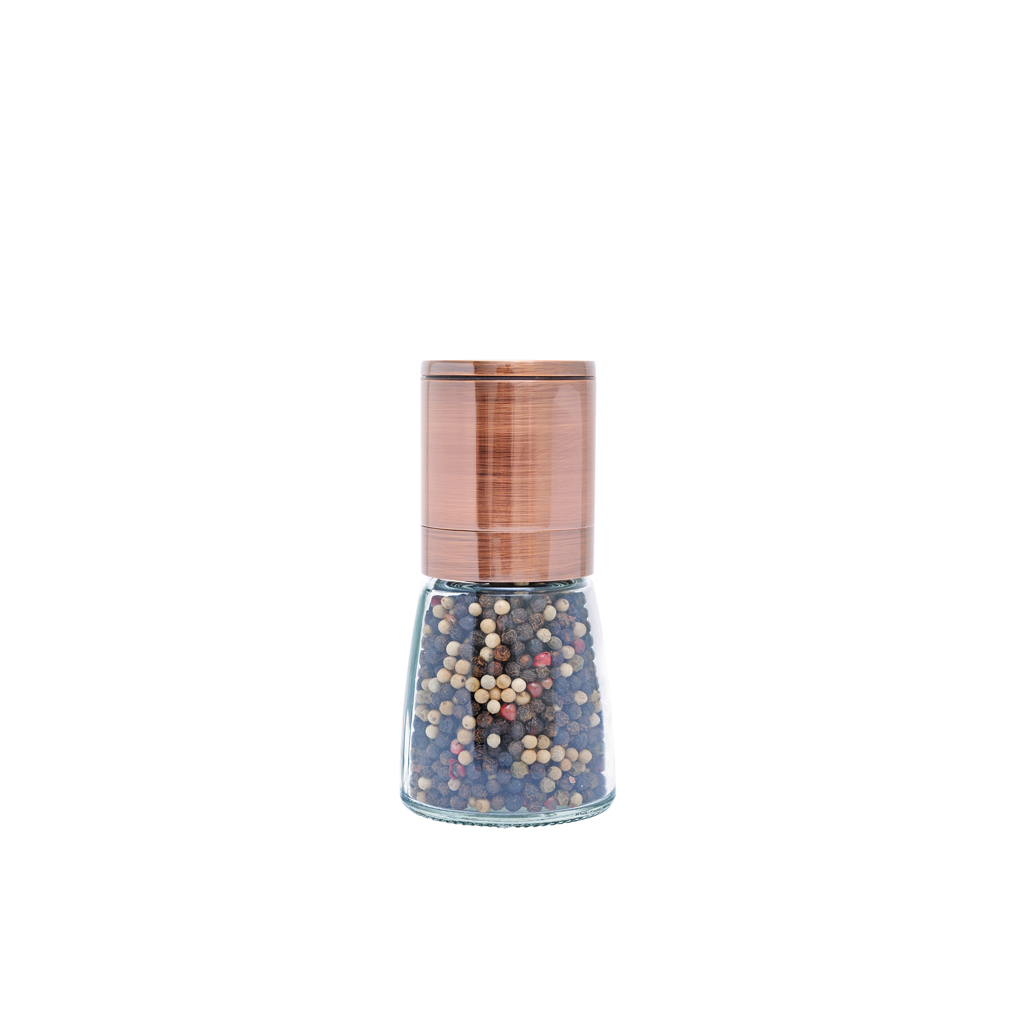 Grind & Shake Copper Upside Down Mill w/ Gourmet Peppercorn 65g