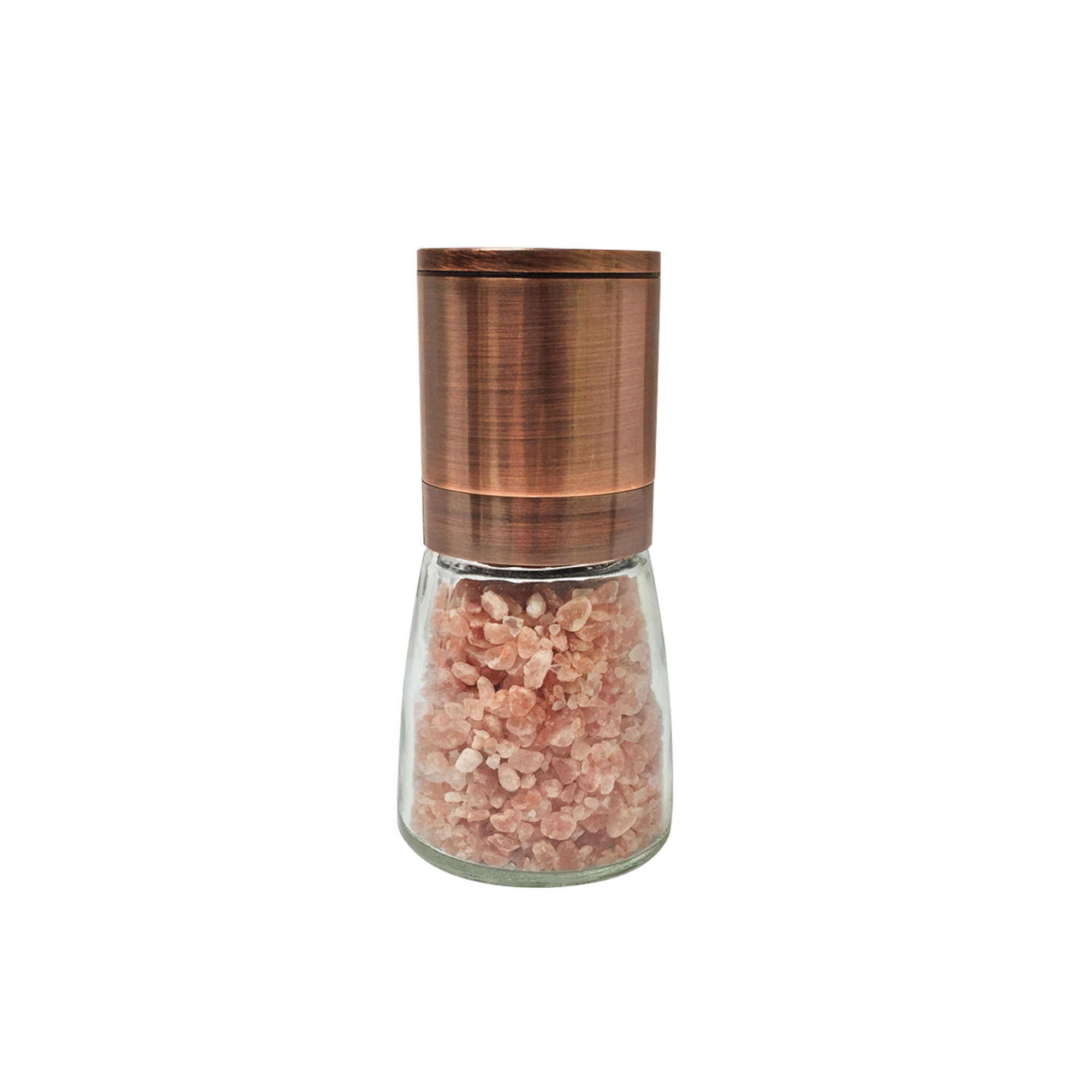 Grind & Shake Copper Upside Down Mill w/ Himalayan Mineral Salt 160g