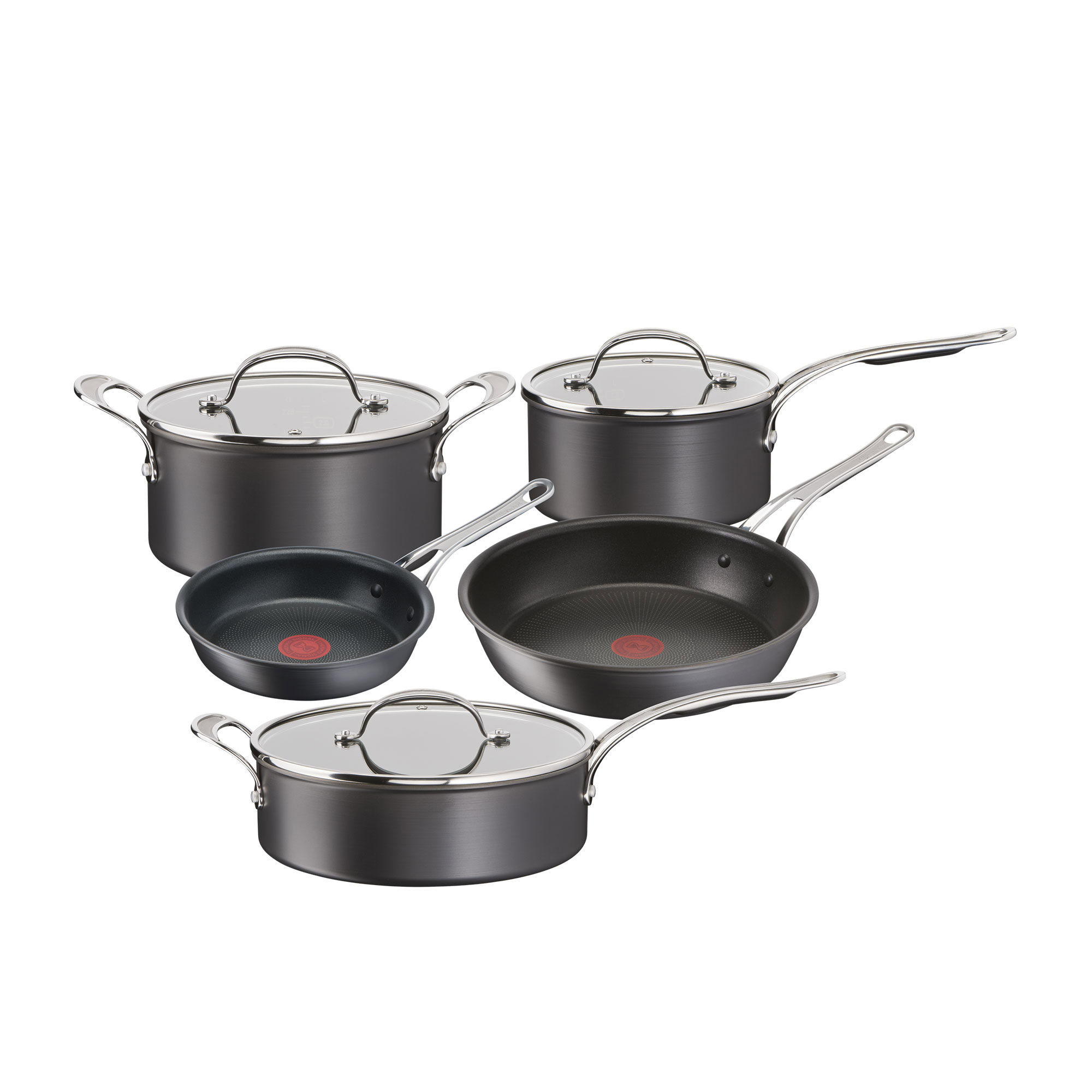 Jamie Oliver Cook's Classic 5pc Hard Anodised Induction Cookware Set