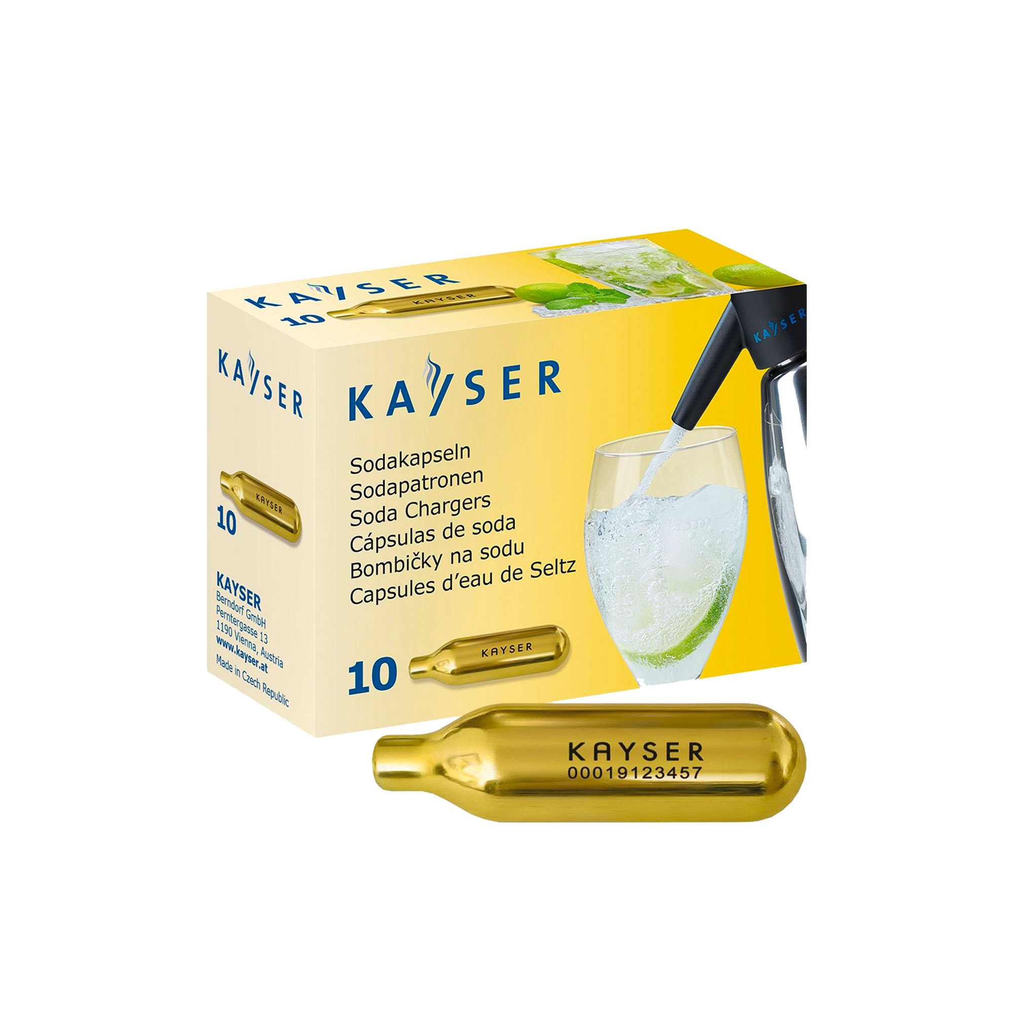 Kayser Soda Syphon Chargers Pack of 10