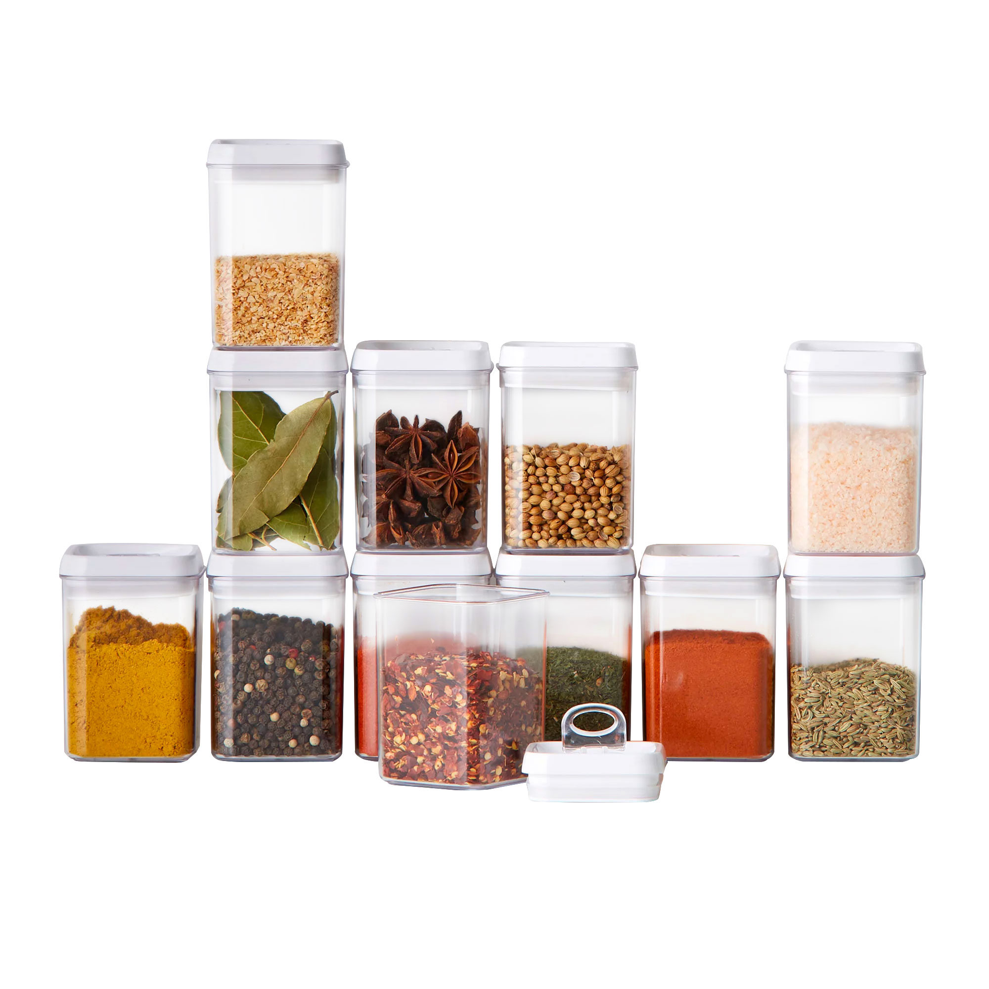 Kitchen Pro Denny 12pc Spice Storage Canister Set White
