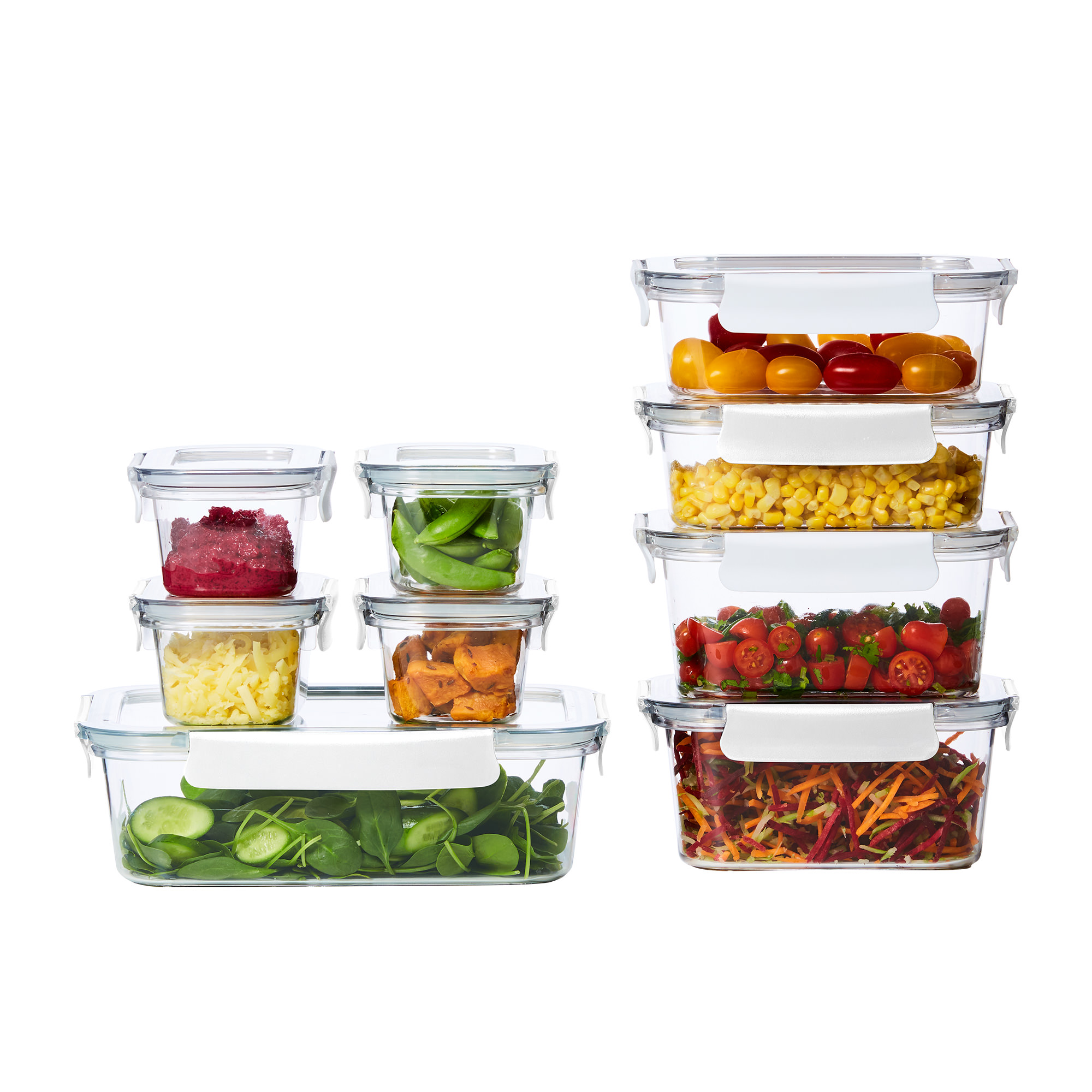 Kitchen Pro Fresh Lock 9pc Food Container Set White
