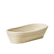 Kitchen Pro Rattan Oval Bread Proving <b>Basket</b> 27x13x6cm