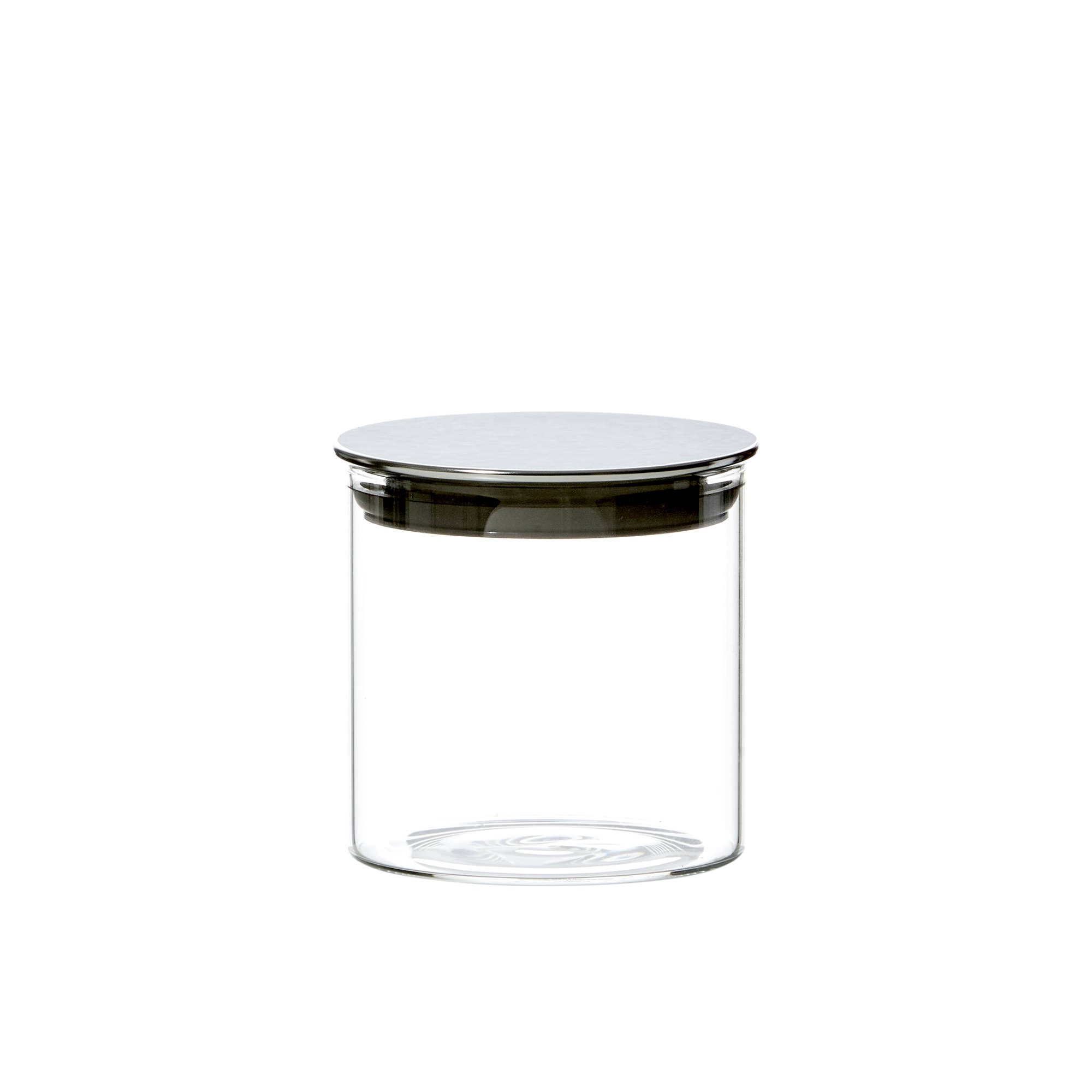 Kitchen Pro Steel Glass Canister 500ml w/ Steel Lid