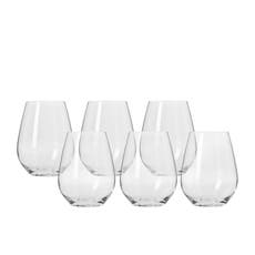 Krosno Harmony Stemless Wine <b>Glass</b> 400ml Set of 6