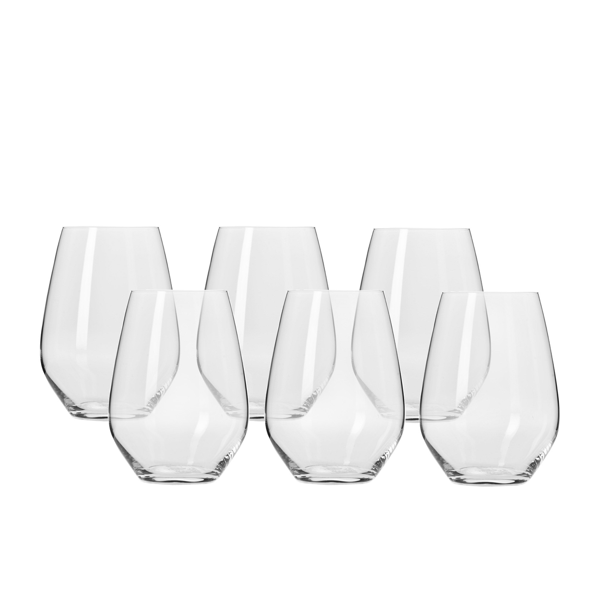 Krosno Harmony Stemless Wine Glass 540ml Set of 6
