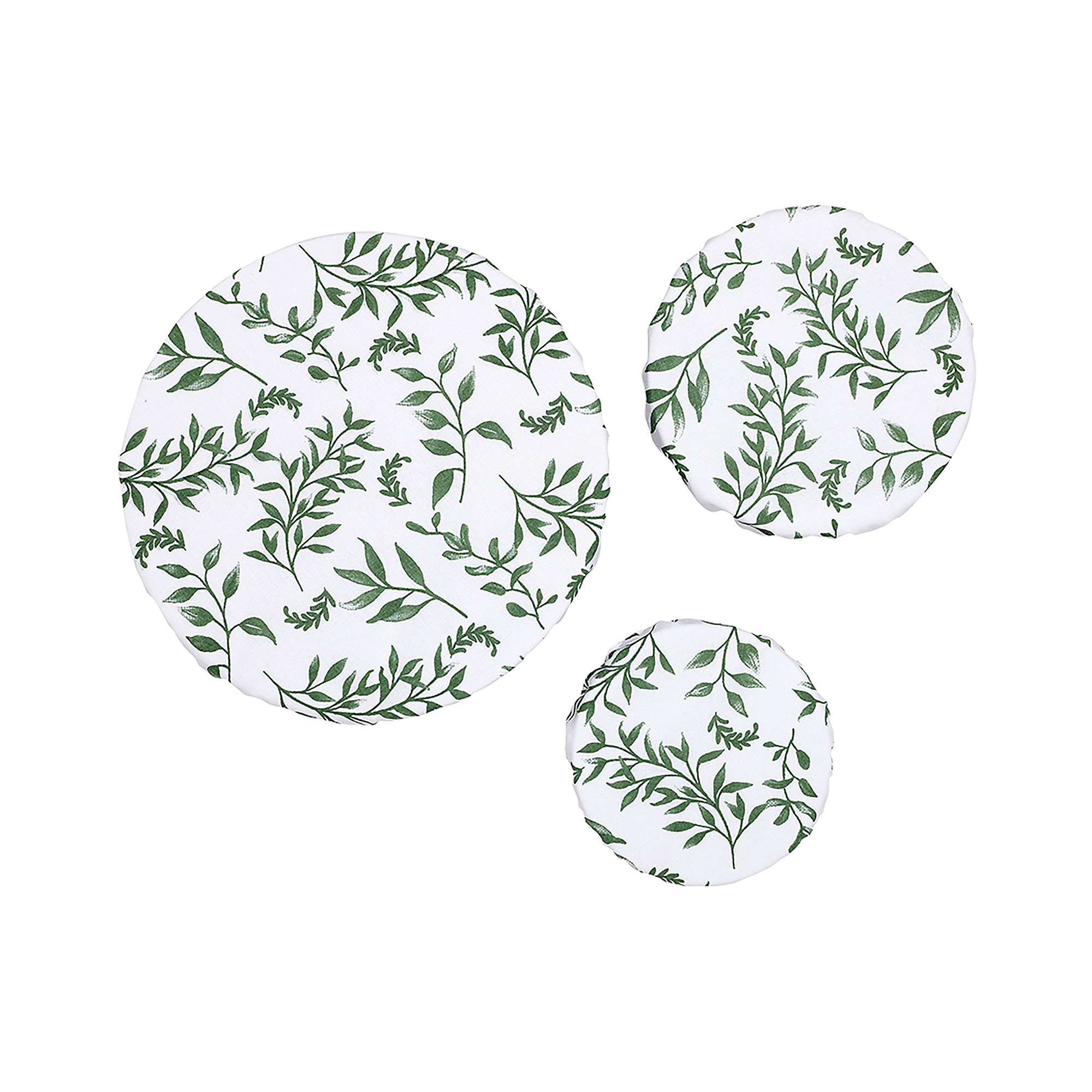 Ladelle Grown 3pc Stretch Bowl Cover Set Ivy