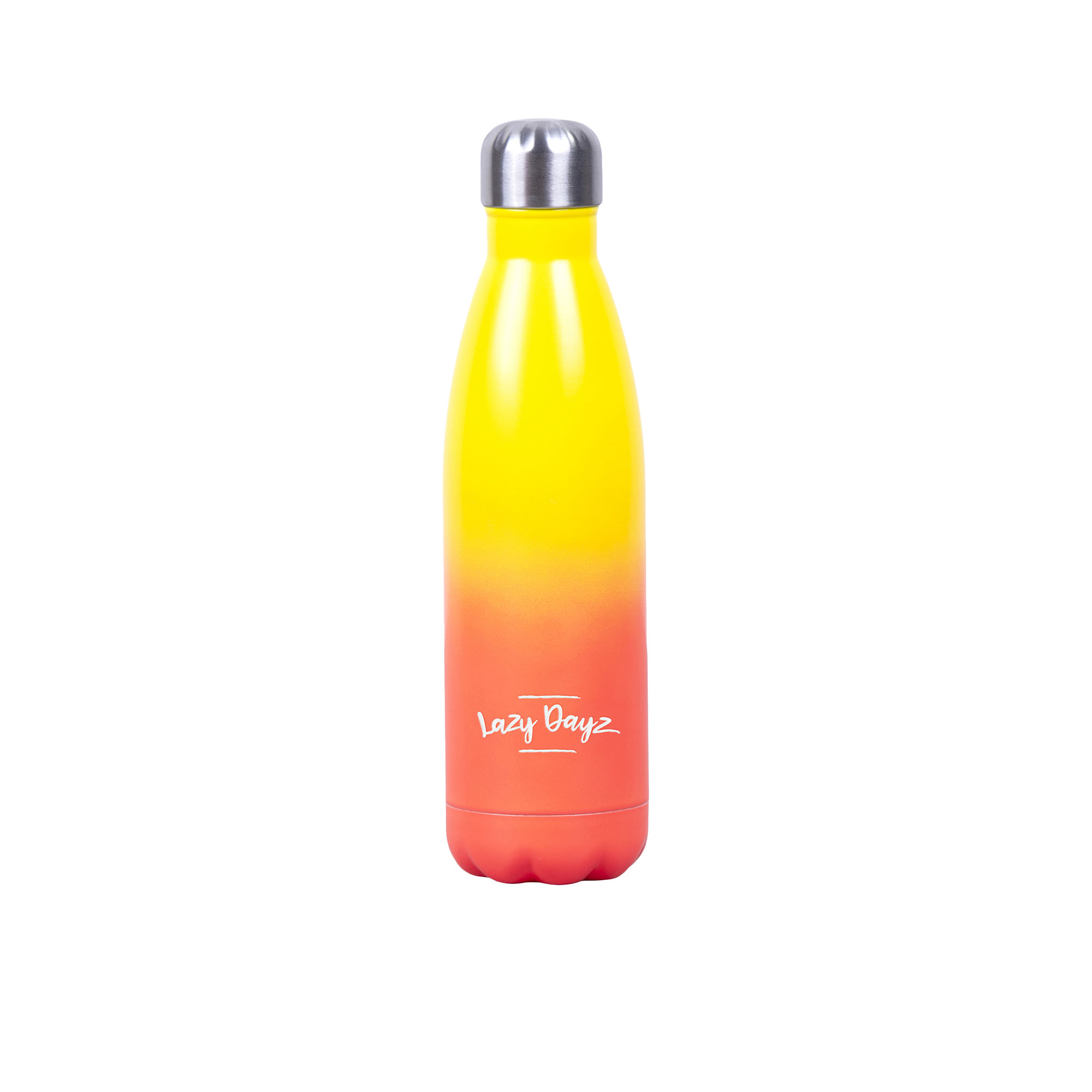 Lazy Dayz Daily Drink Bottle 500ml Yellow Peach Ombre