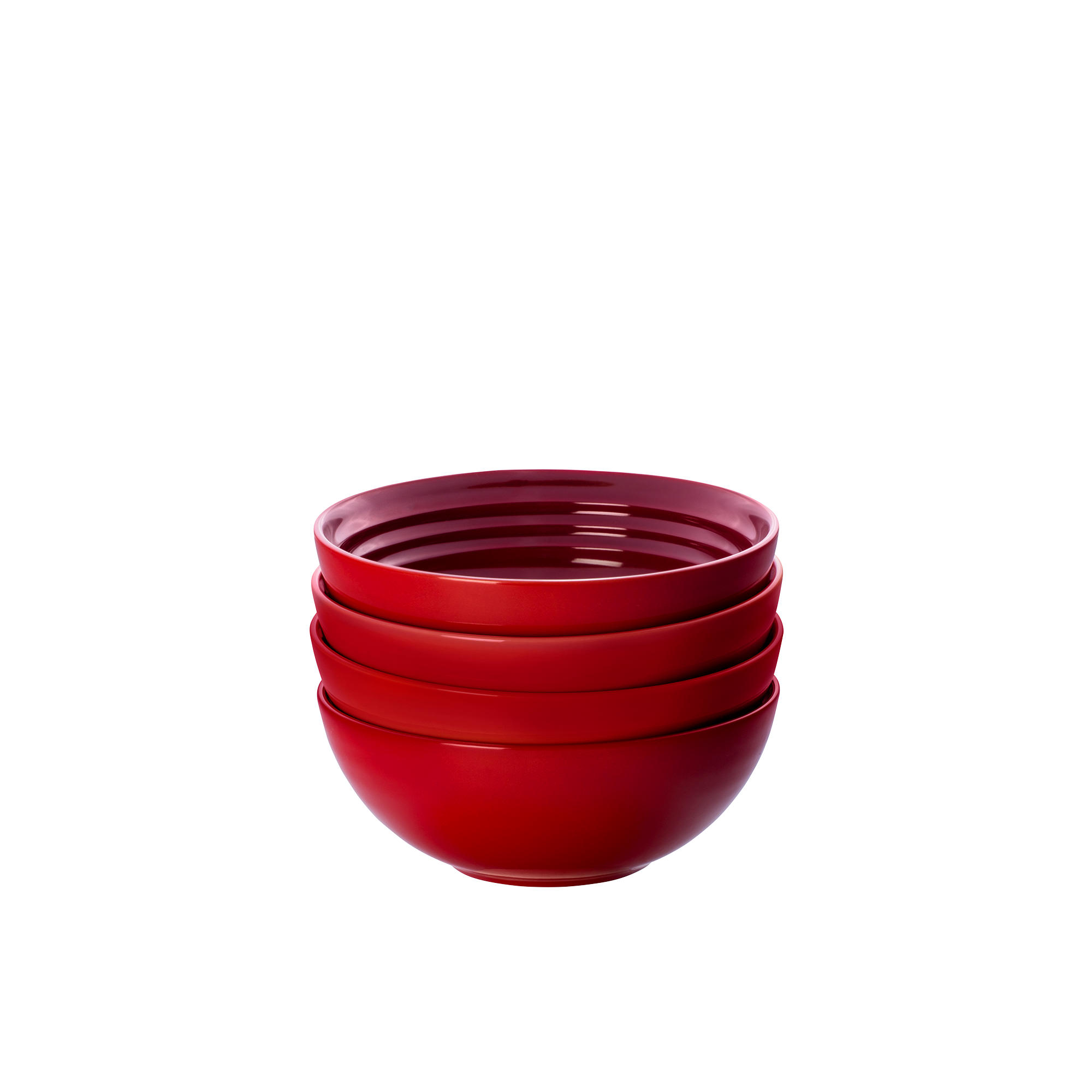 Le Creuset Stoneware Cereal Bowl 16cm Set of 4 Cerise