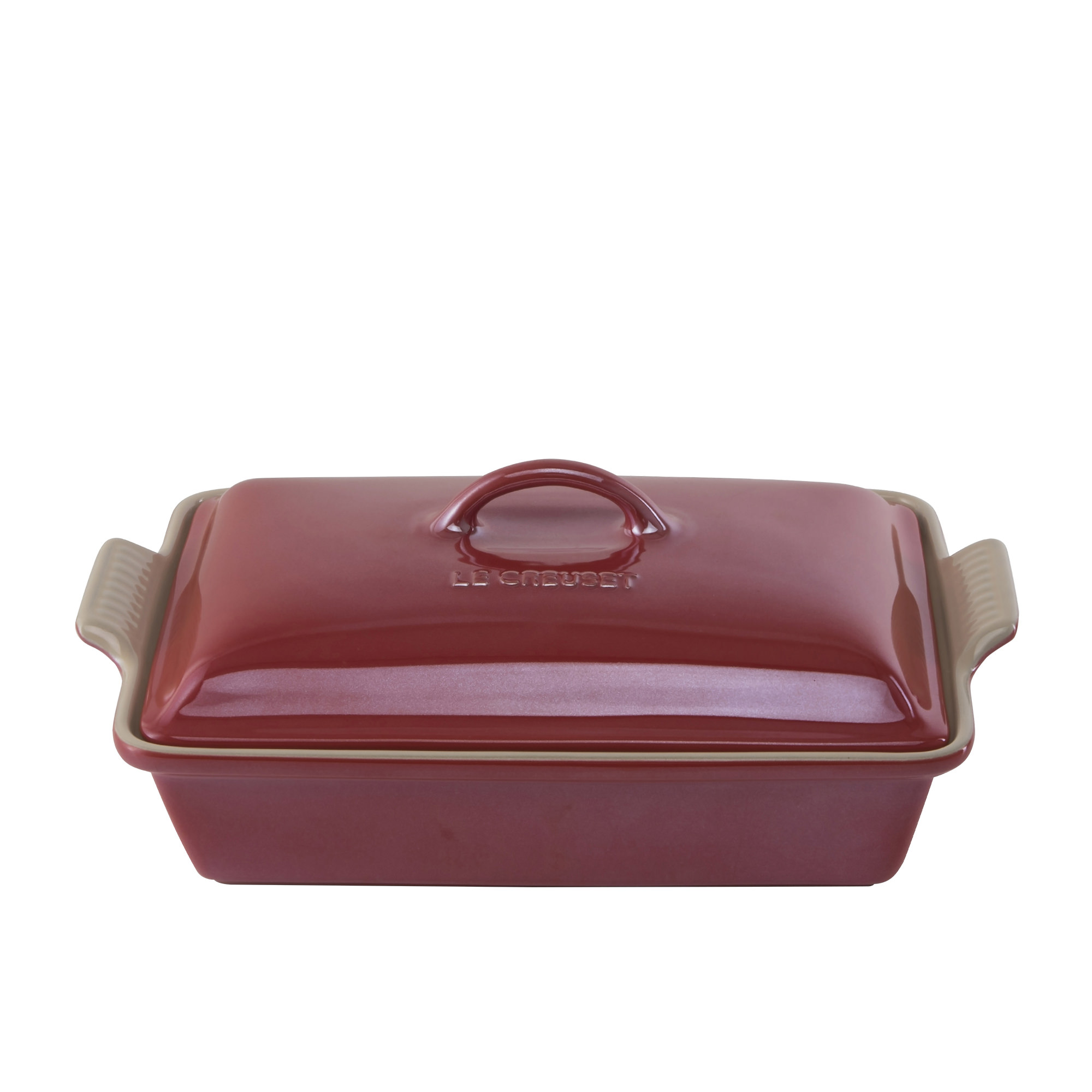Le Creuset Stoneware Heritage Covered Rectangular Dish 33cm Metallic Cerise