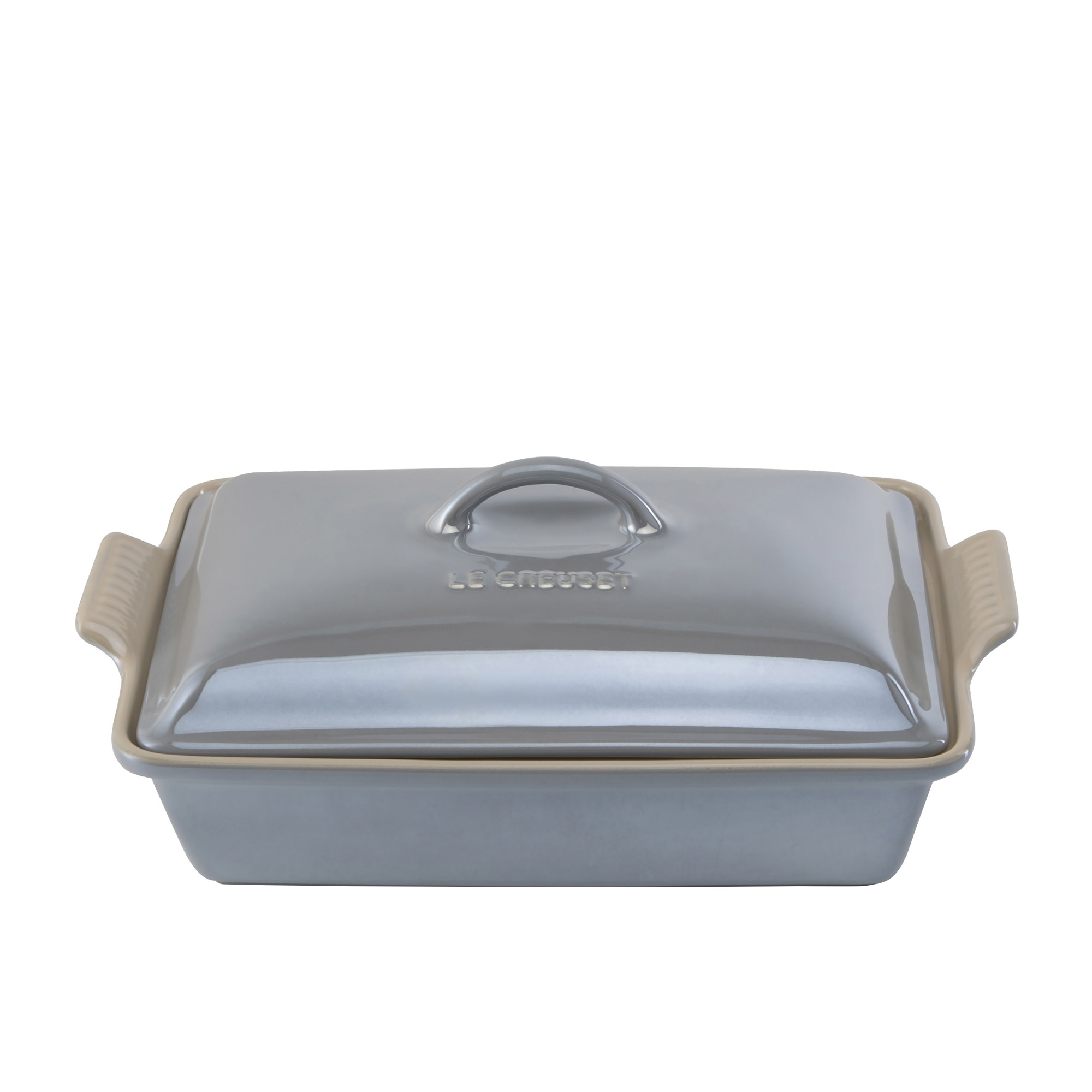Le Creuset Stoneware Heritage Covered Rectangular Dish 33cm Metallic Mist Grey