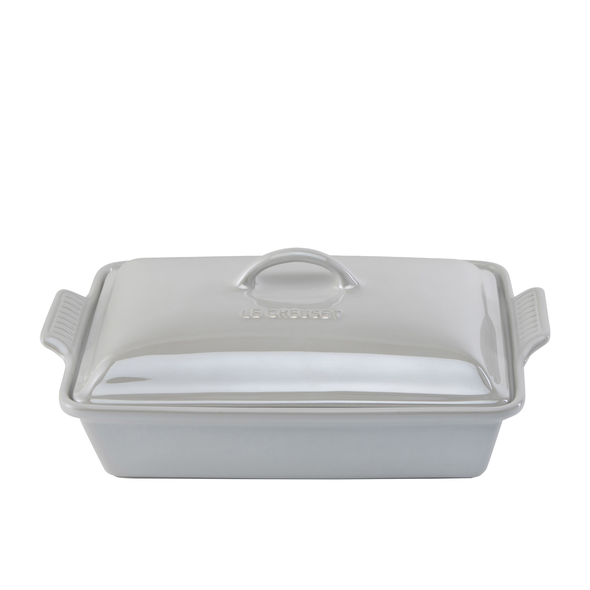 Le Creuset Stoneware Heritage Covered Rectangular Dish 33cm Metallic White