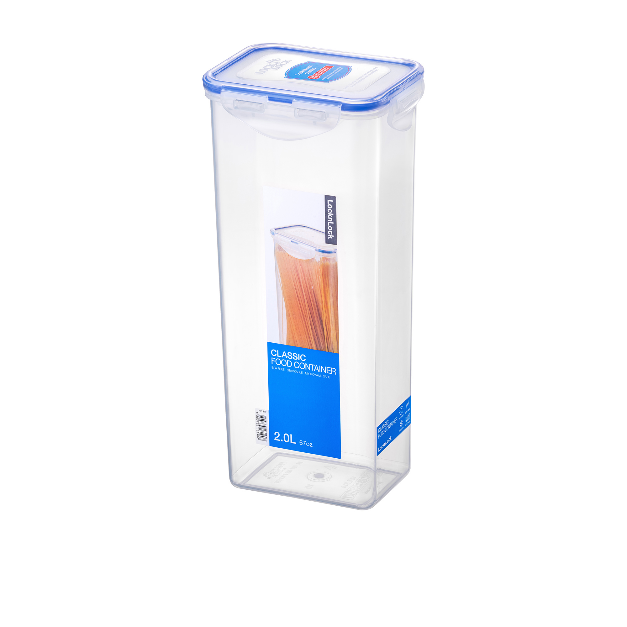 Lock & Lock Classic Pasta Box Tall 2L