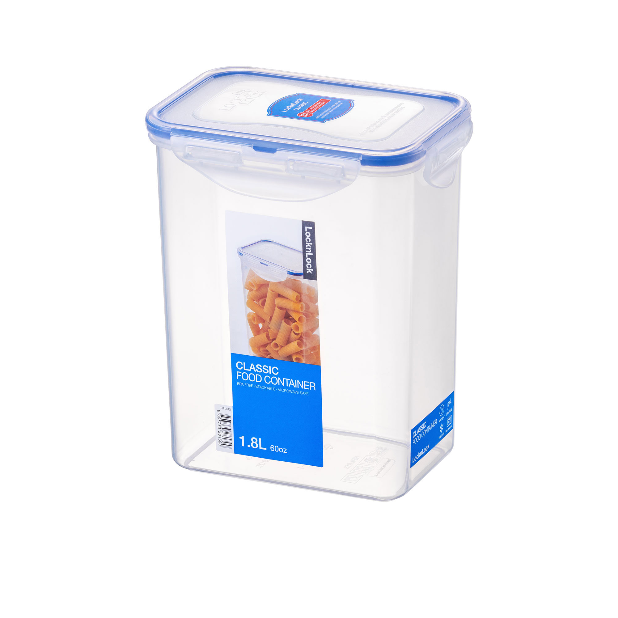 Lock & Lock Classic Rectangular Tall Container 1.8L