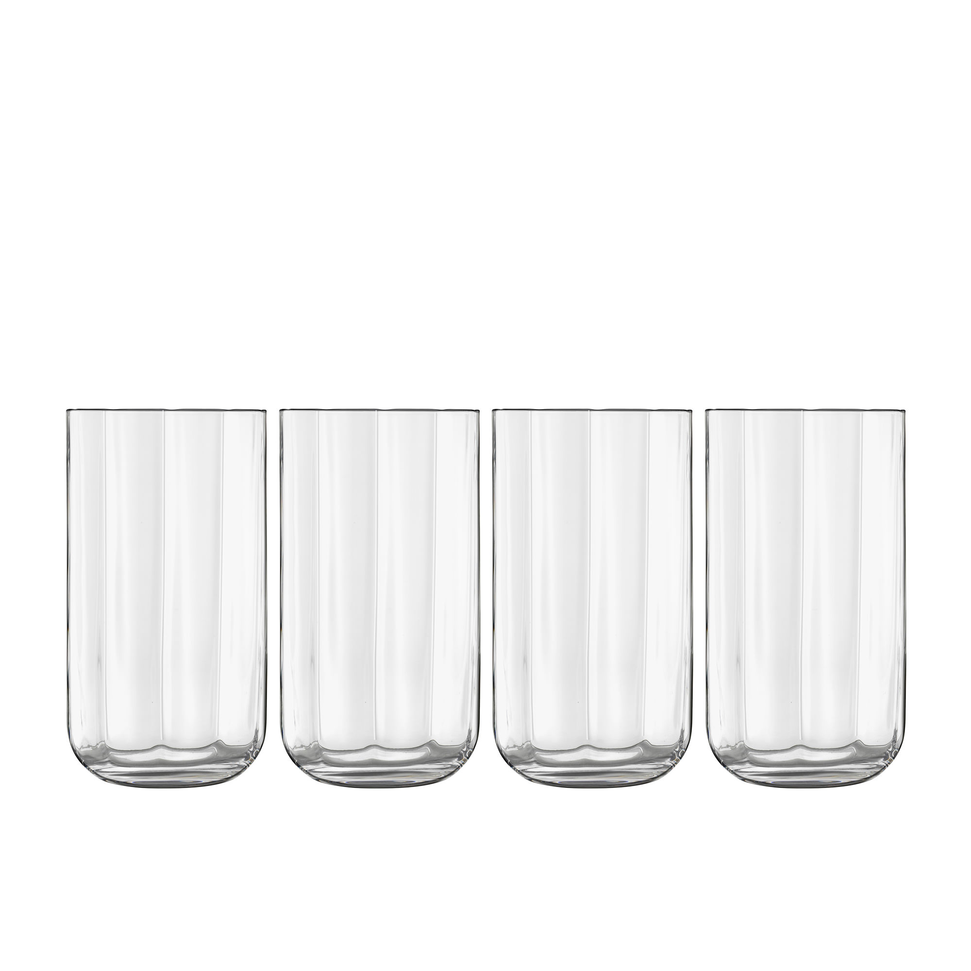 Luigi Bormioli Jazz 4pc Long Drink Glass Set 450ml Clear