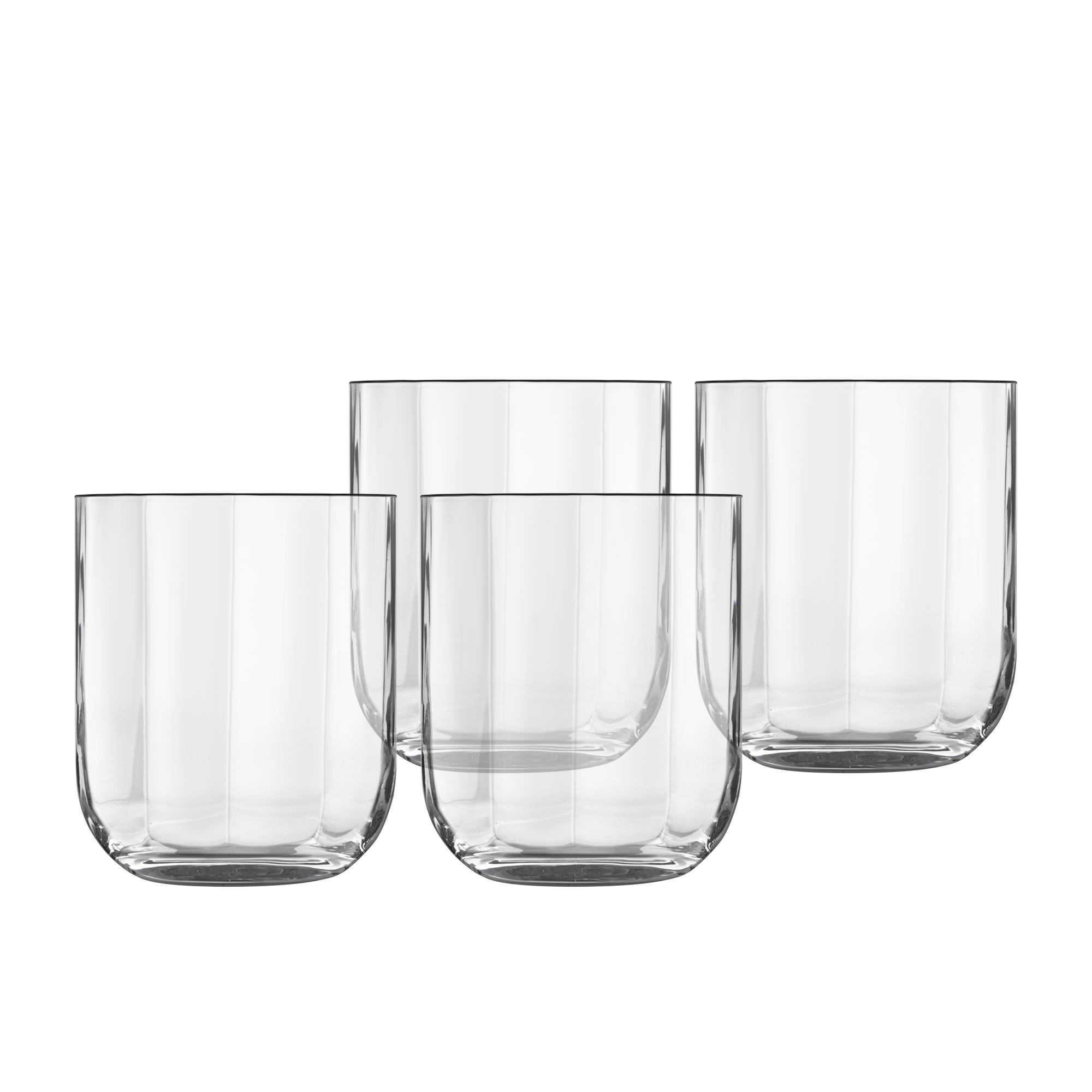 Luigi Bormioli Jazz 4pc Whiskey Glass Set 350ml Clear