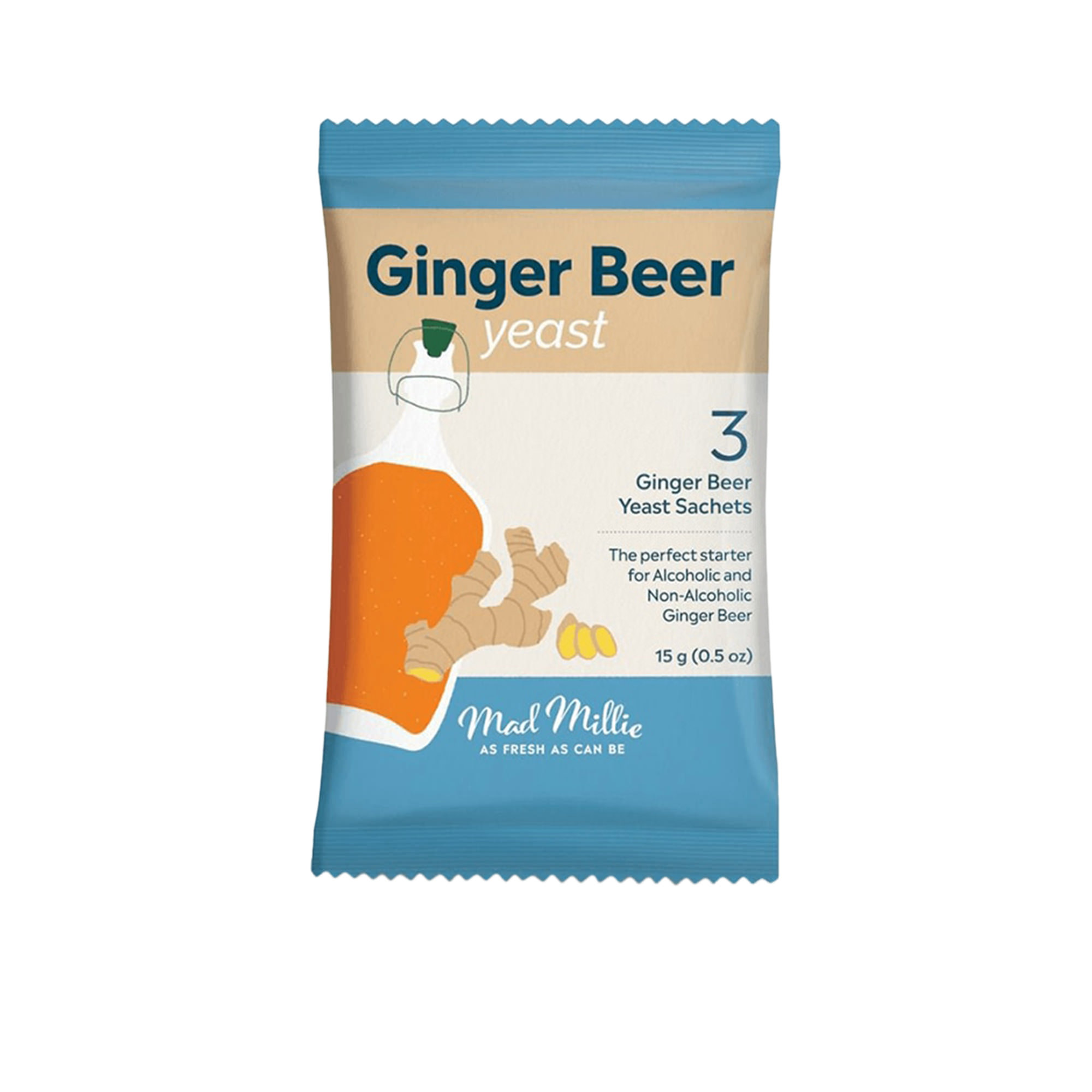 Mad Millie Ginger Beer Yeast 3 Pack