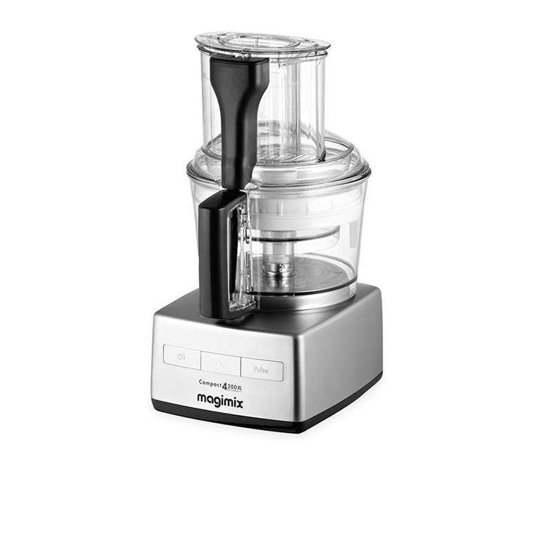 Magimix 4200XL Food Processor Matte Chrome w/ XL Feed Tube