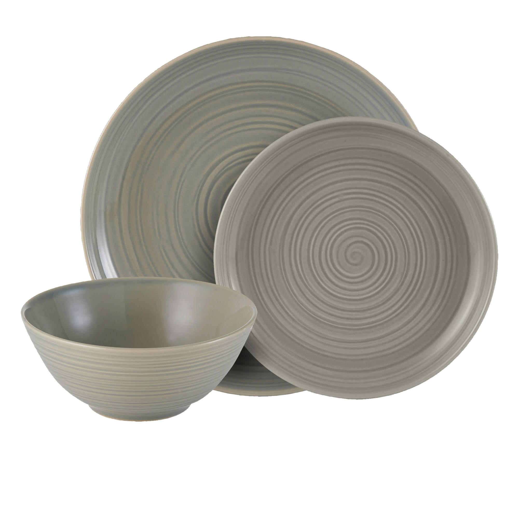 Mason Cash William Mason 12pc Dinner Set Grey