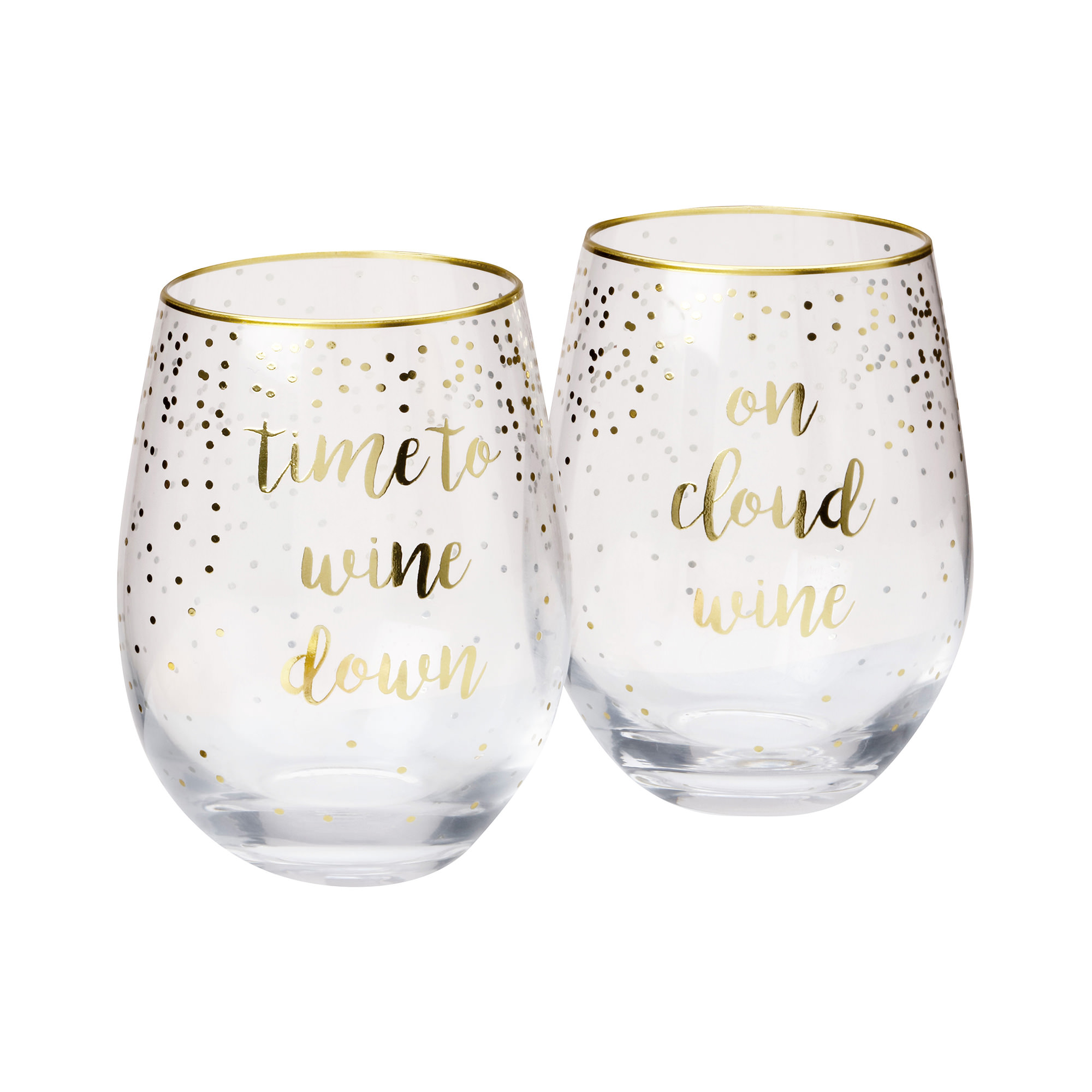 Maxwell & Williams Celebrations 2pc Stemless Glass Set 500ml Cloud Time