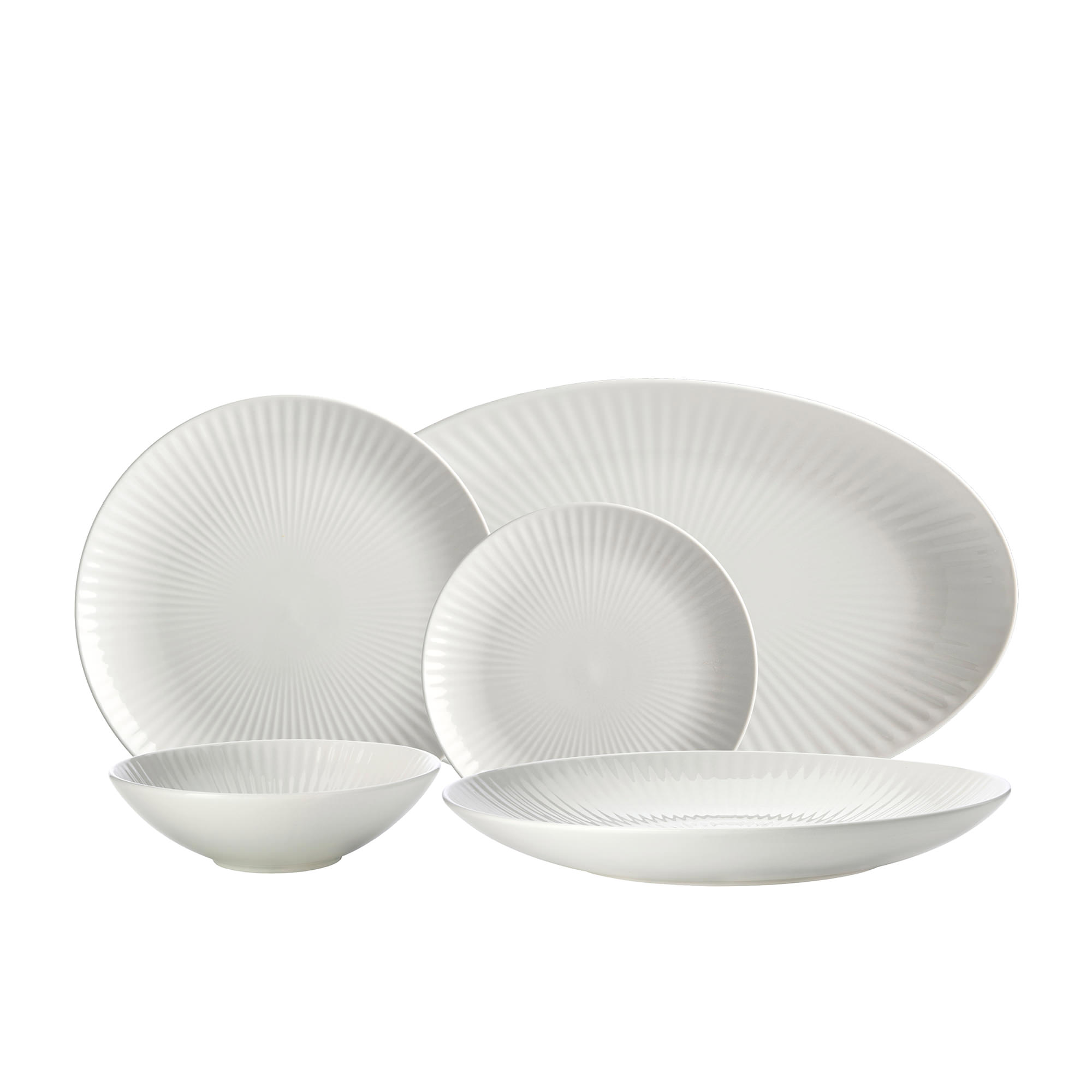 Maxwell & Williams Radiance 14pc Entertainer's Set White