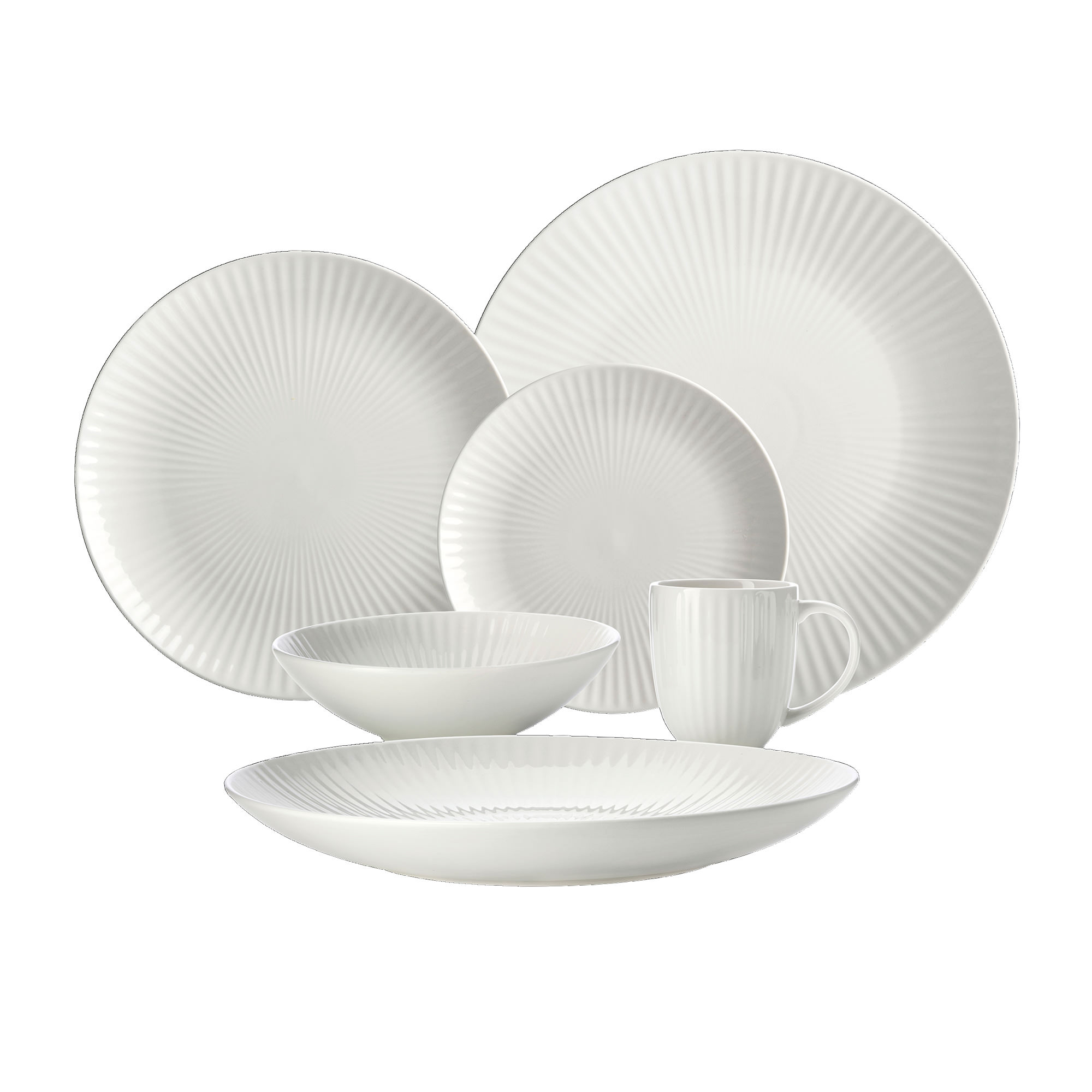 Maxwell & Williams Radiance 18pc Entertainer's Set White