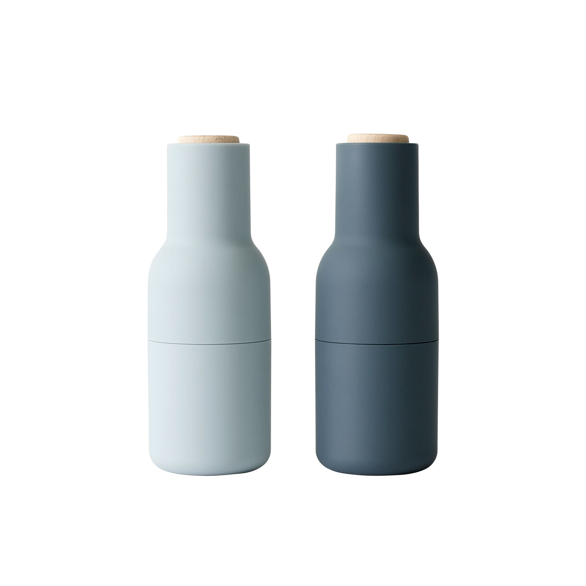 Menu Salt & Pepper Bottle Grinder Set w/ Beech Lid Blues