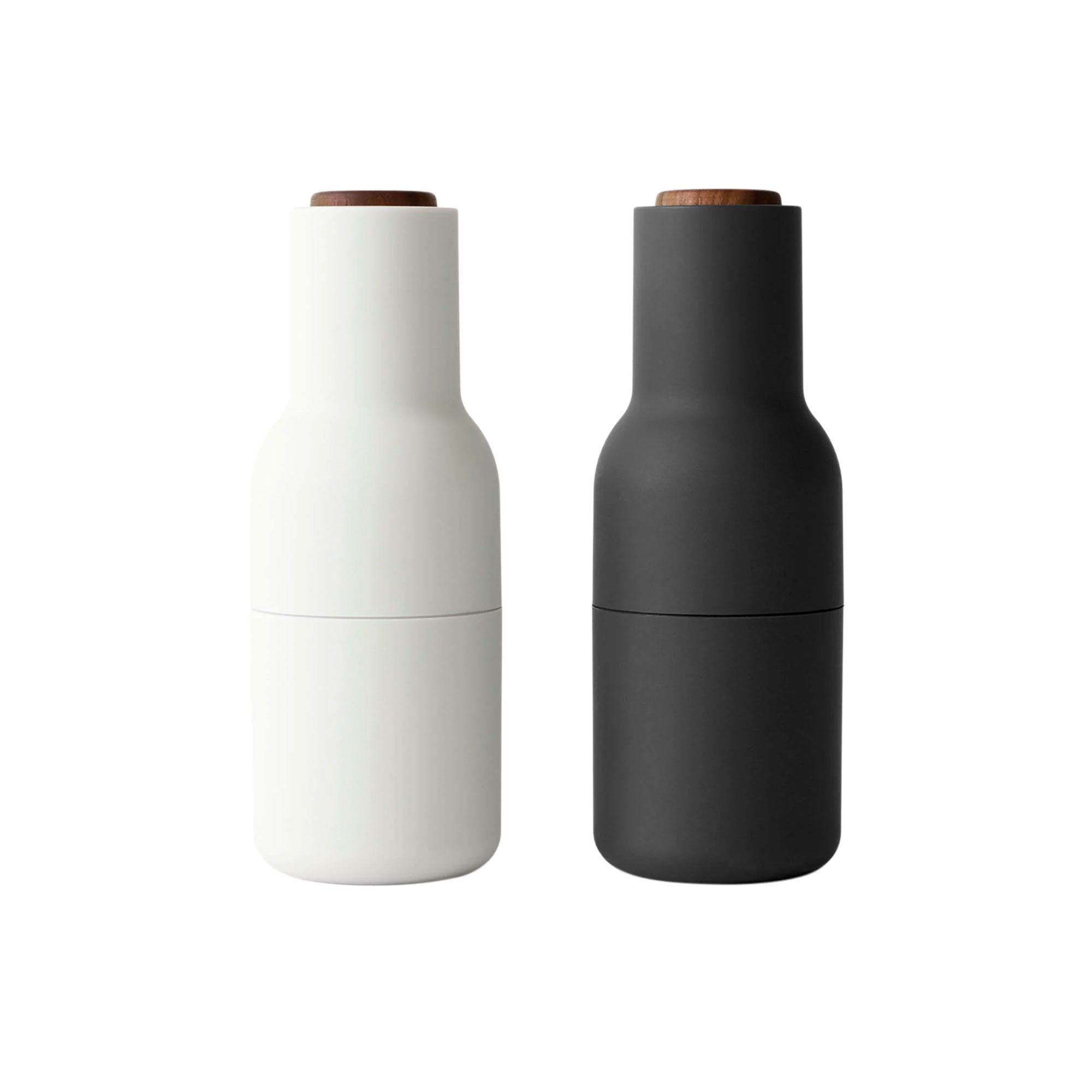 Menu Salt & Pepper Bottle Grinder Set w/ Walnut Lid Ash Carbon