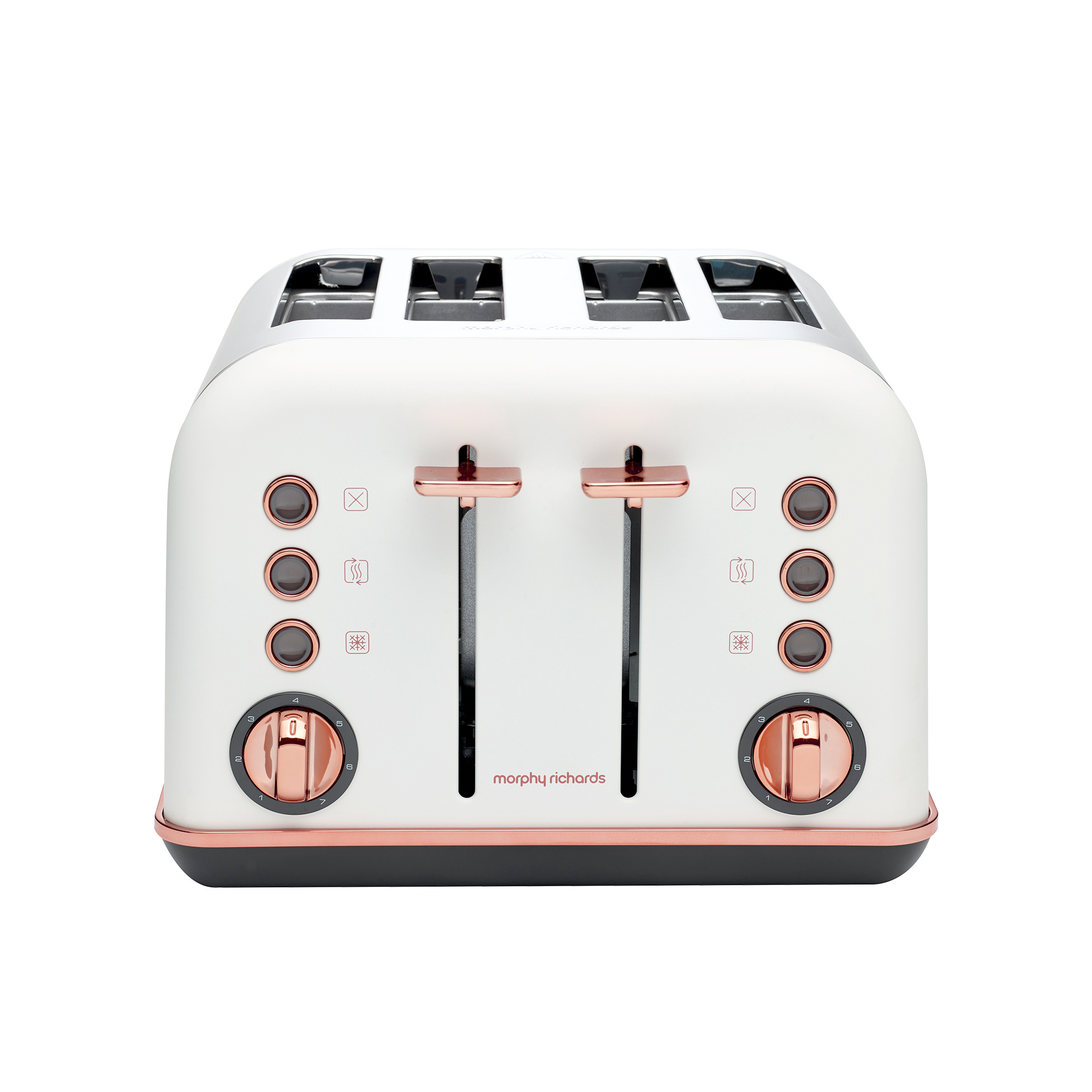 Morphy Richards Accents Rose Gold 4 Slice Toaster Matte White