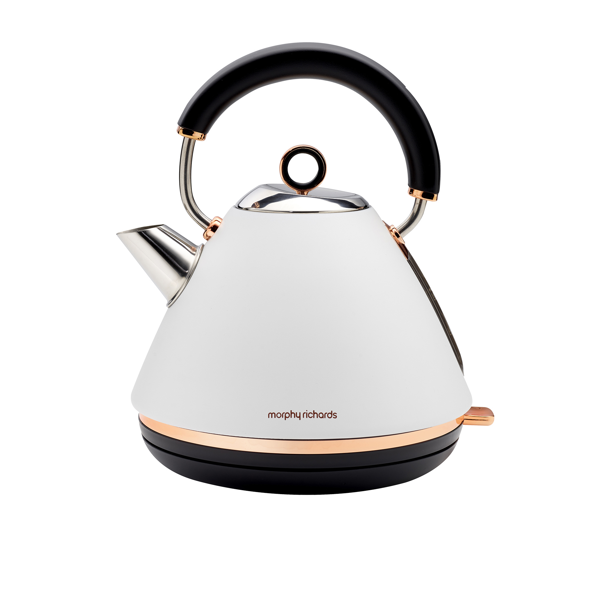 Morphy Richards Ascents Rose Gold Kettle 1.5L Matte White