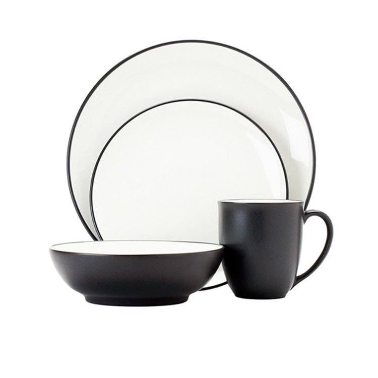 Noritake Colorwave Graphite 16pc Dinner Set
