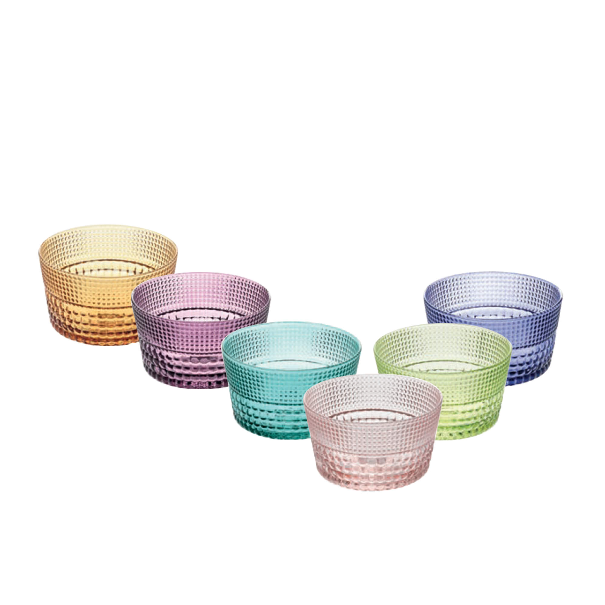Noritake IVV Speedy 6pc Bowl Set 380ml Multi Colour