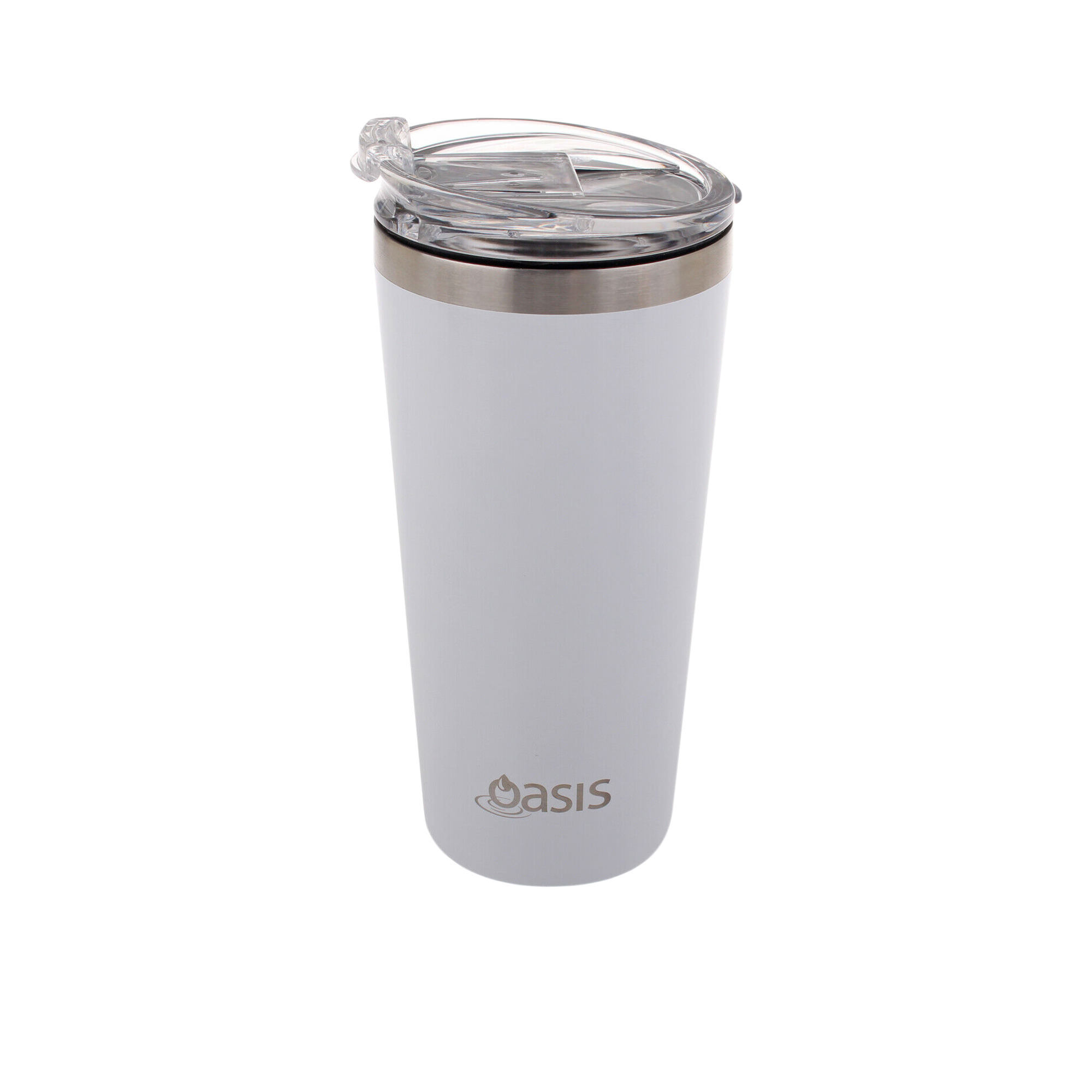 Oasis Double Wall Insulated Travel Mug 480ml White