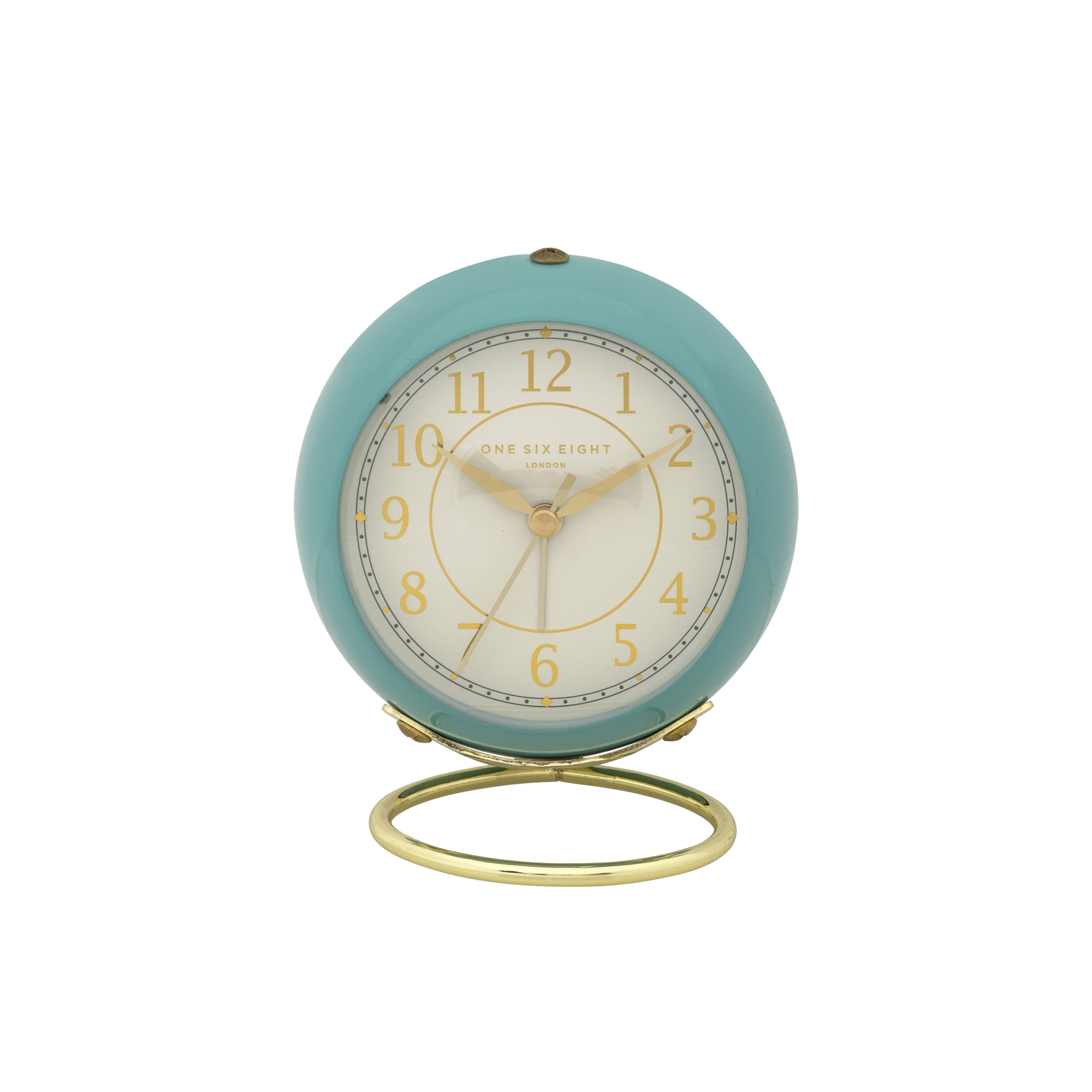 One Six Eight London Anna Silent Alarm Clock 13cm Duck Egg Blue