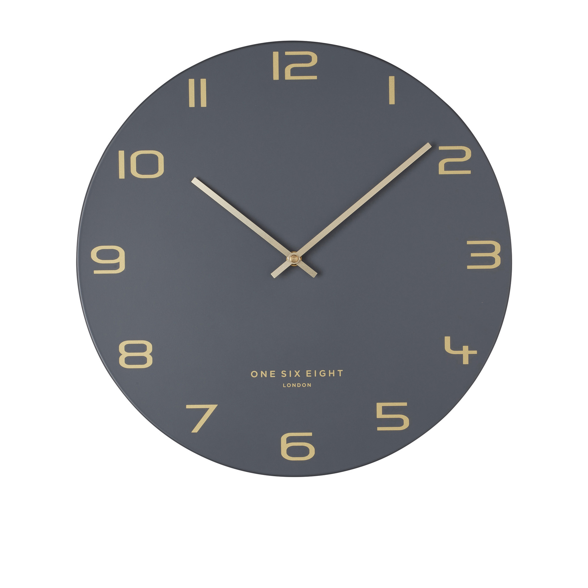 One Six Eight London Blake Silent Wall Clock 60cm Charcoal Grey