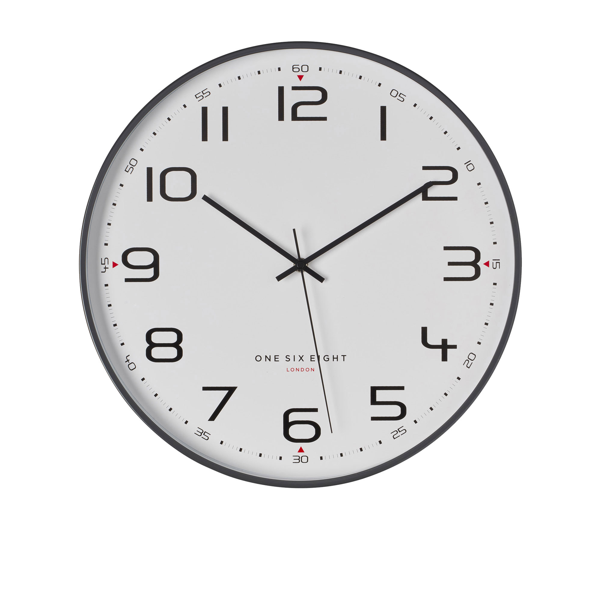 One Six Eight London Carmen Silent Wall Clock 30cm Cool Grey