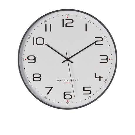 One Six Eight London Carmen Silent Wall Clock 40cm Cool Grey