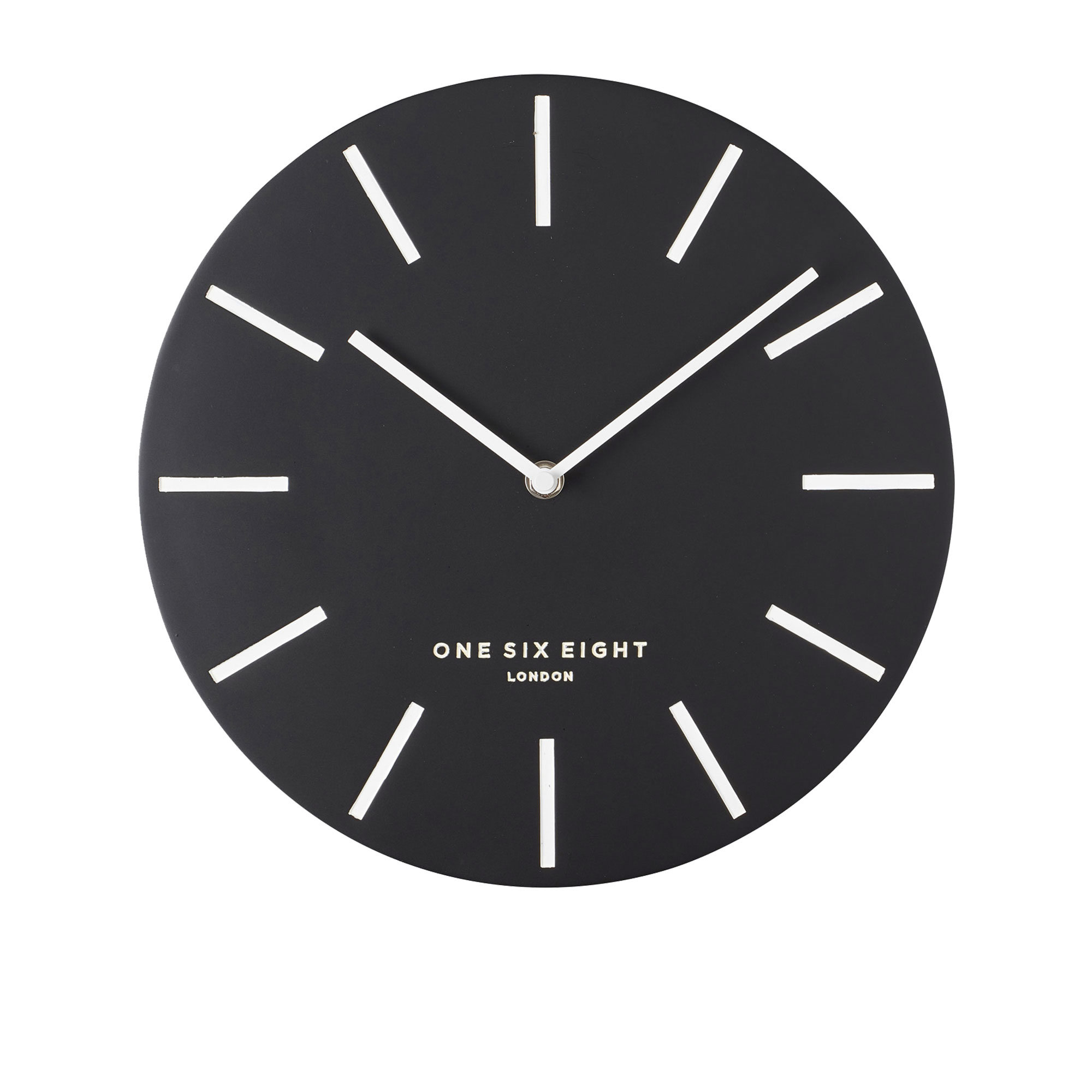 One Six Eight London Chloe Silent Wall Clock 30cm Black