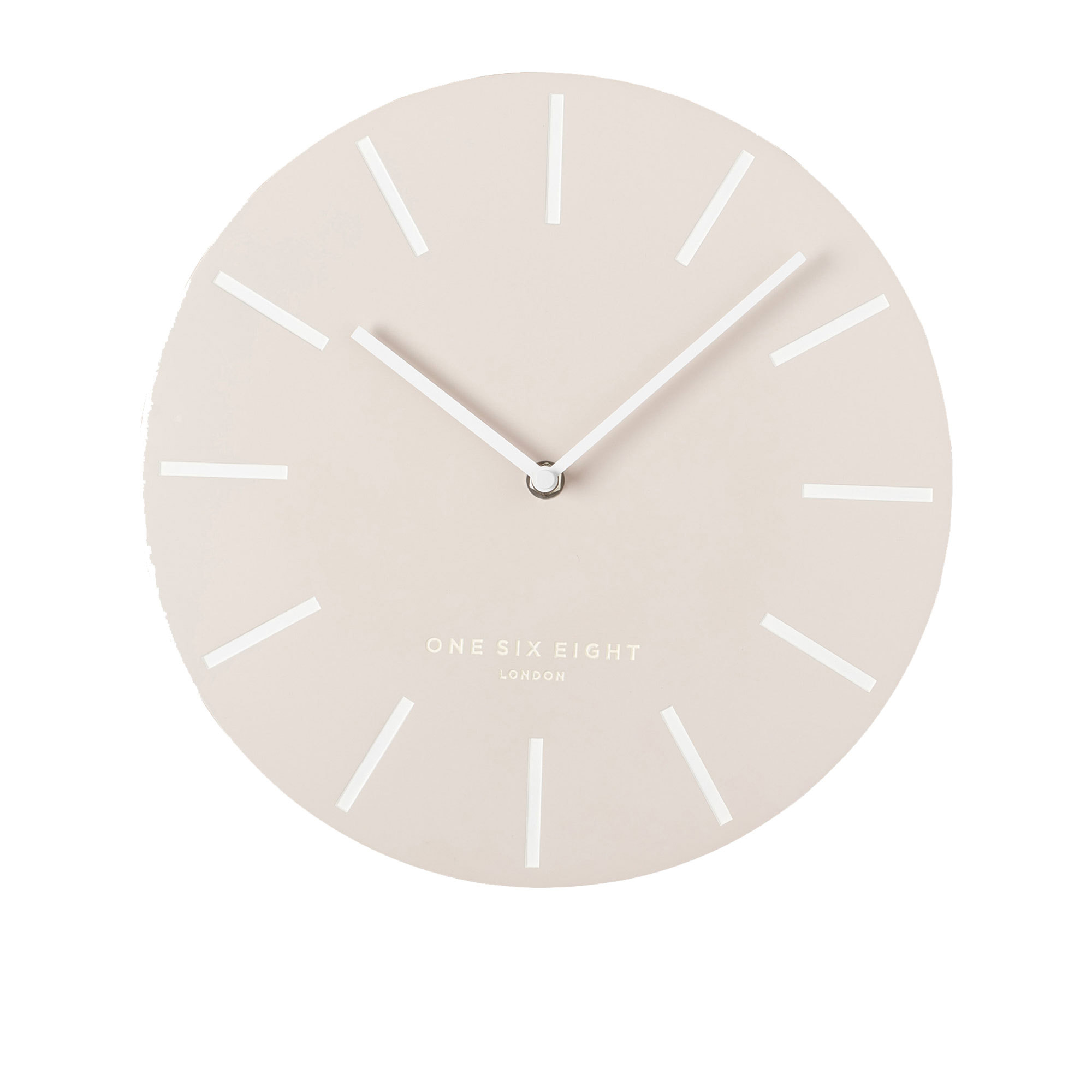 One Six Eight London Chloe Silent Wall Clock 30cm Nude
