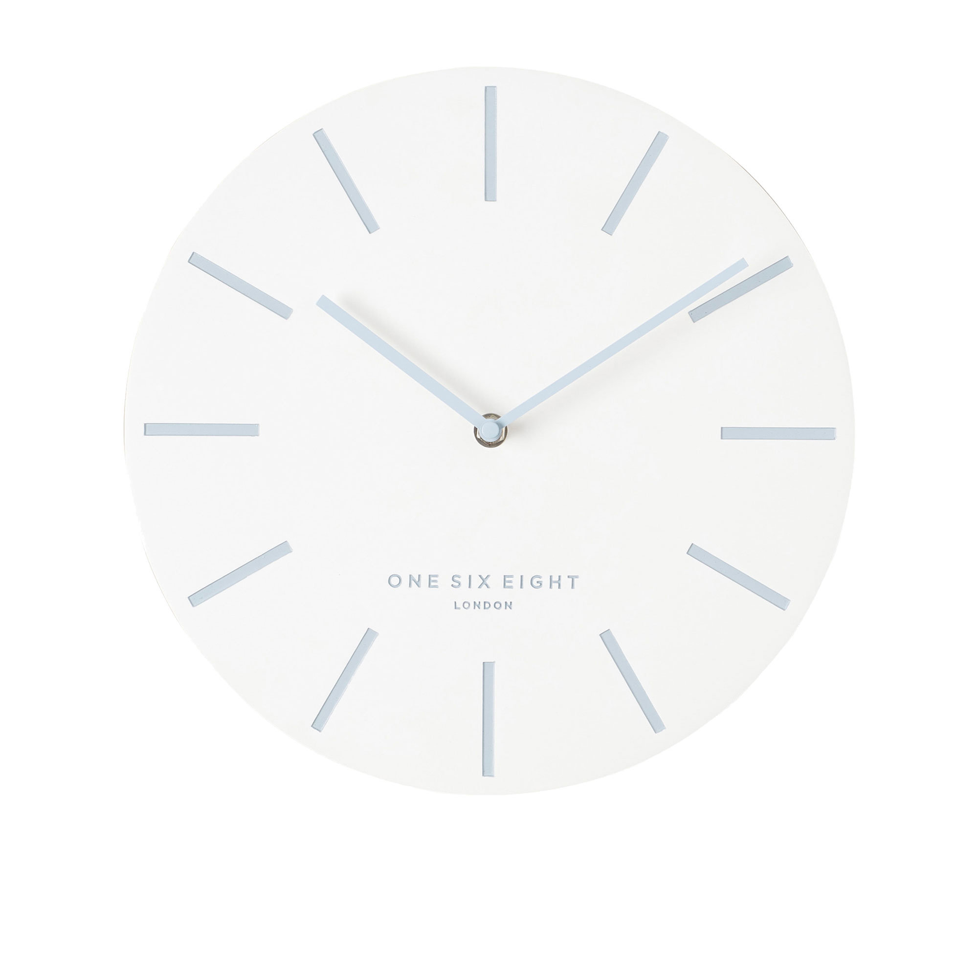 One Six Eight London Chloe Silent Wall Clock 30cm White