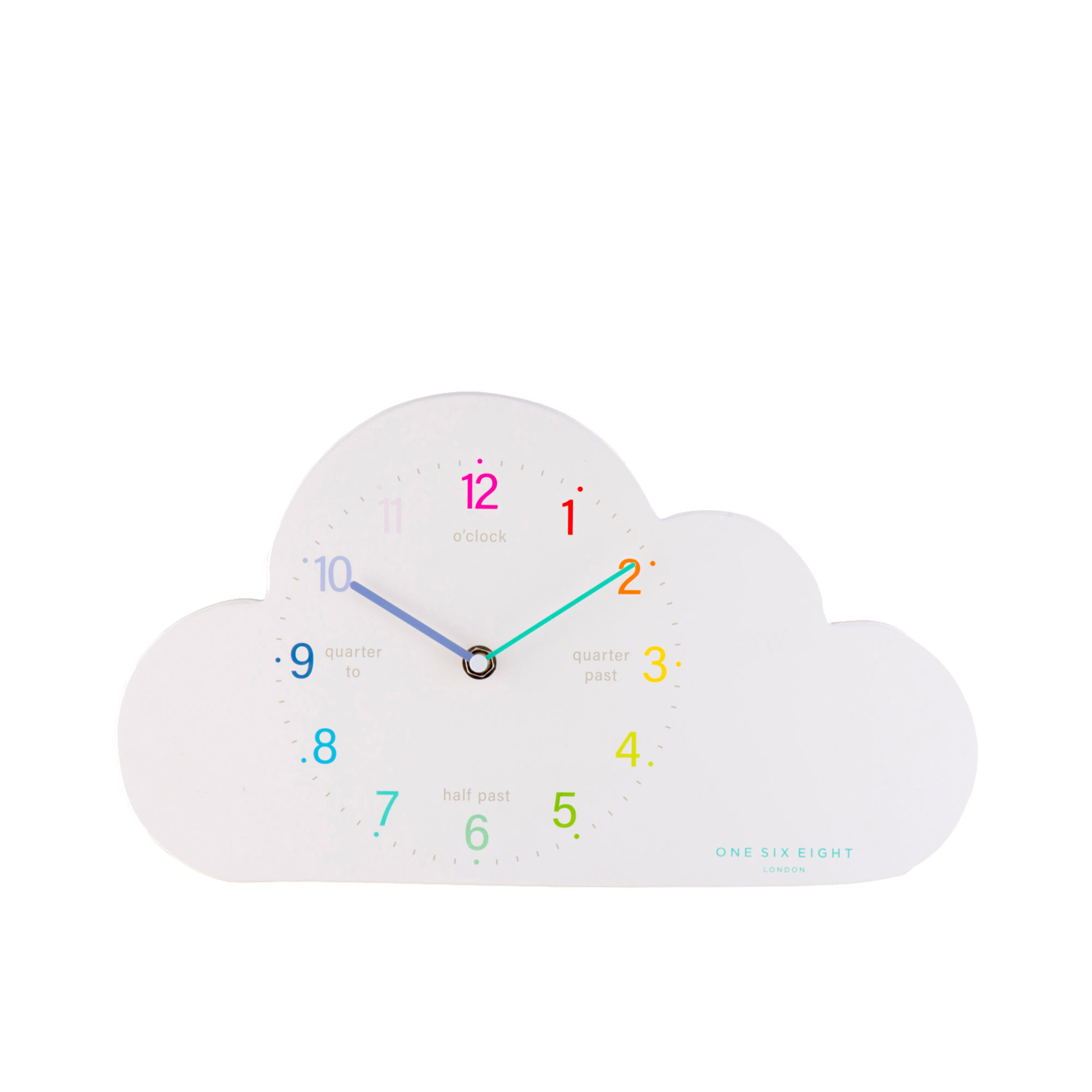 One Six Eight London Cloud Wall Clock 22x35cm White