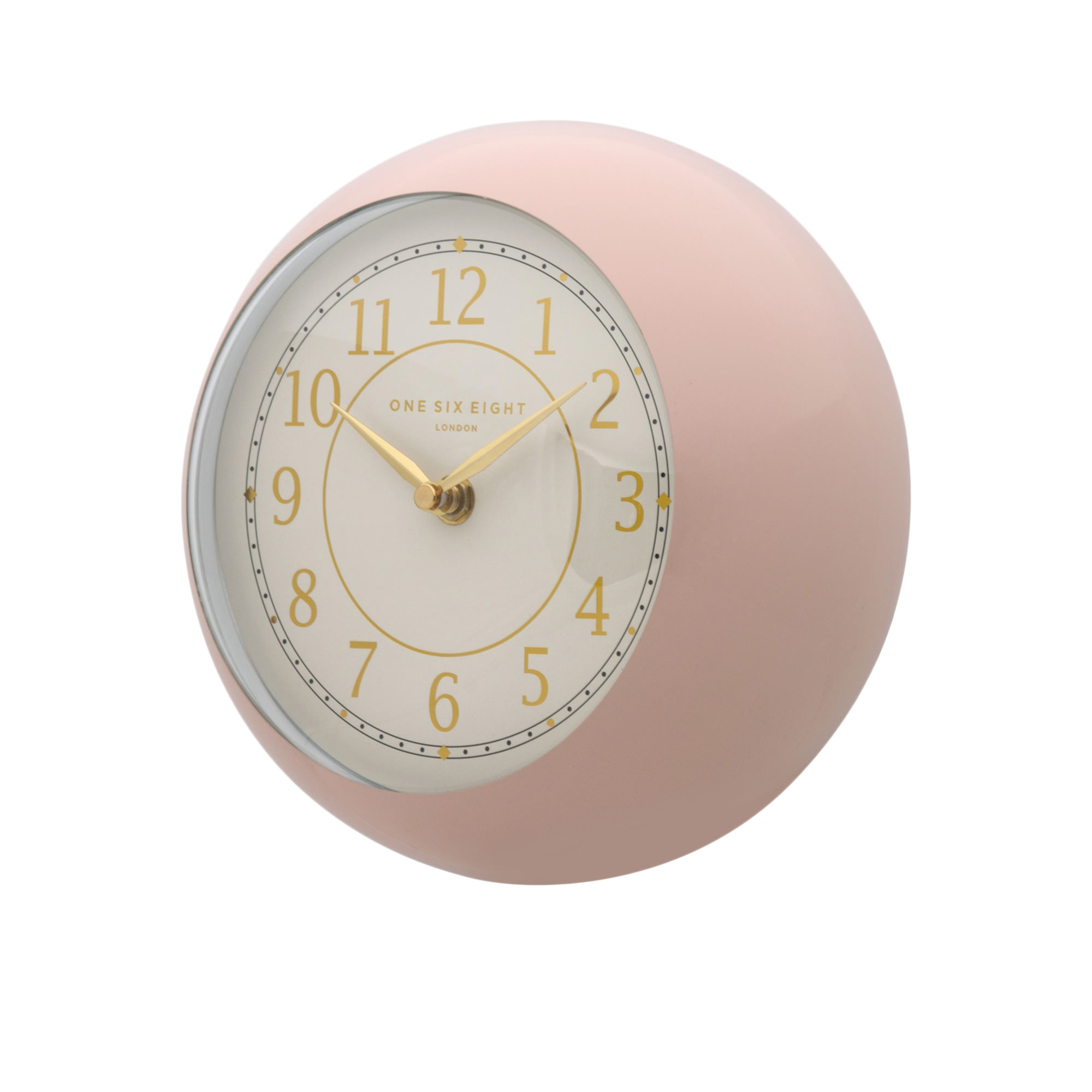 One Six Eight London Emily Metal Wall Clock 21cm Blush