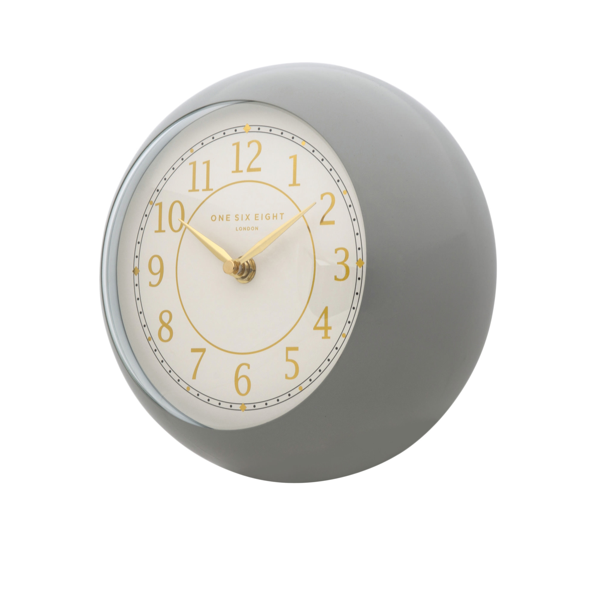 One Six Eight London Emily Metal Wall Clock 21cm Grey