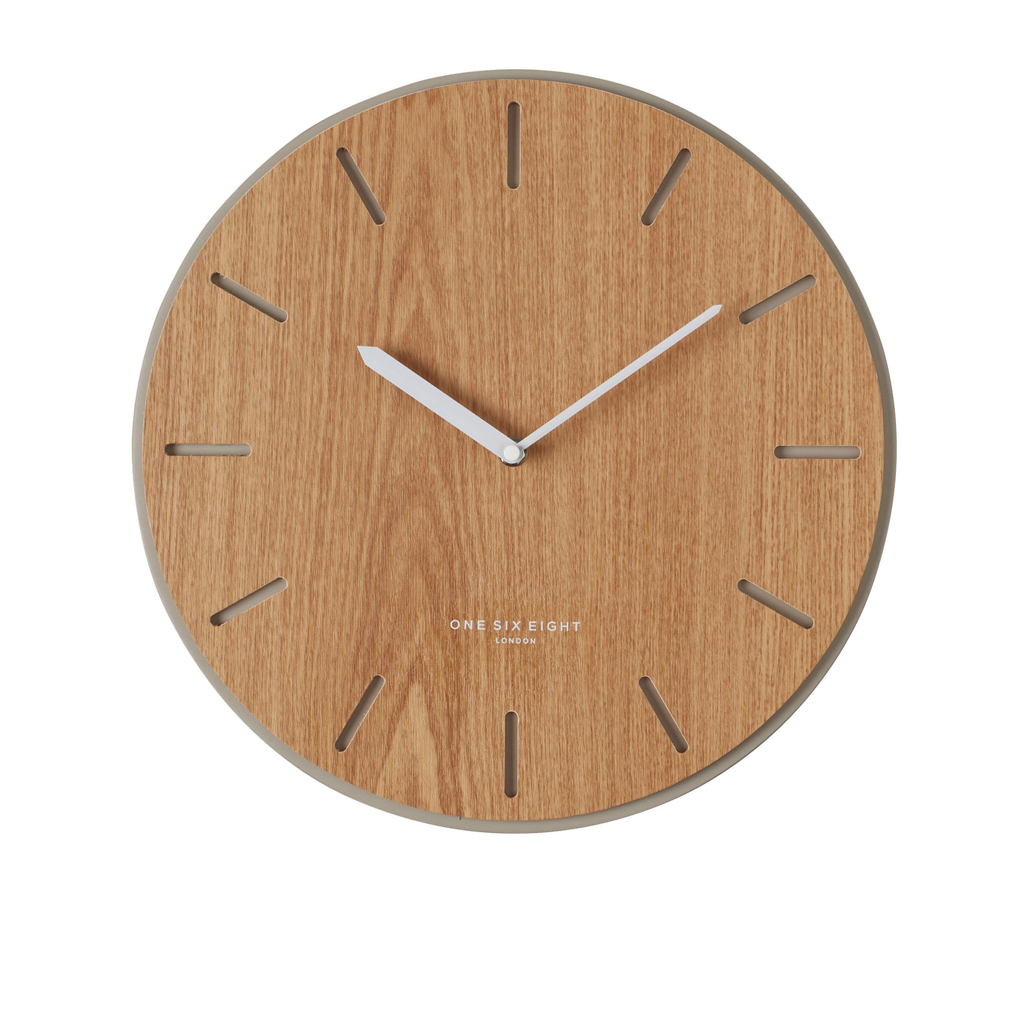 One Six Eight London Gabriel Silent Wall Clock 35cm Concrete